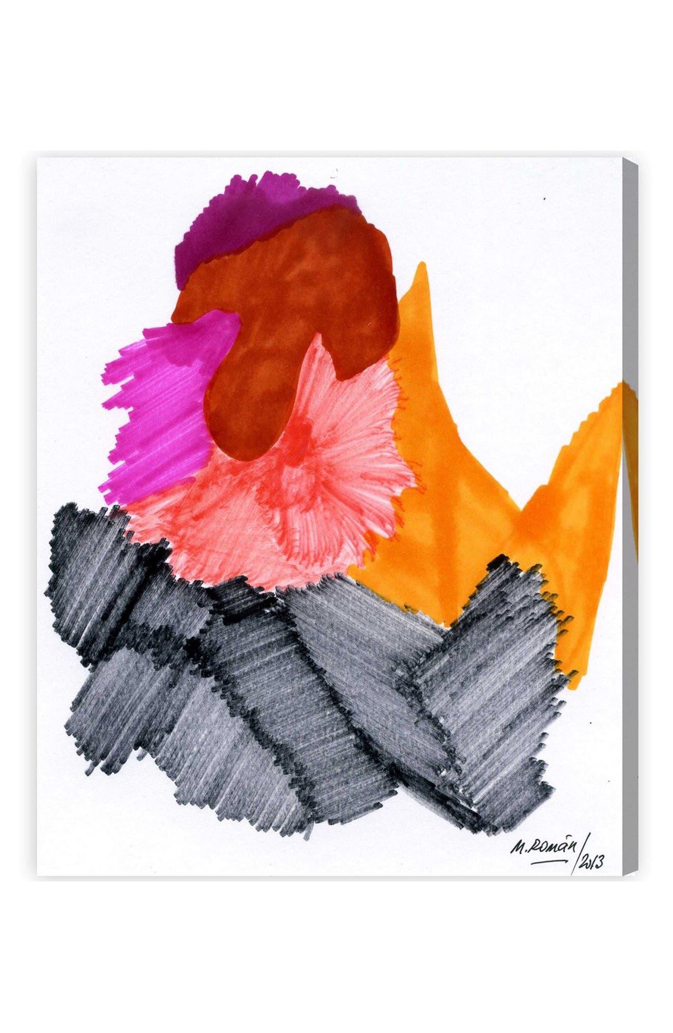 Passion Flare Canvas Wall Art,                             Main thumbnail 1, color,                             100