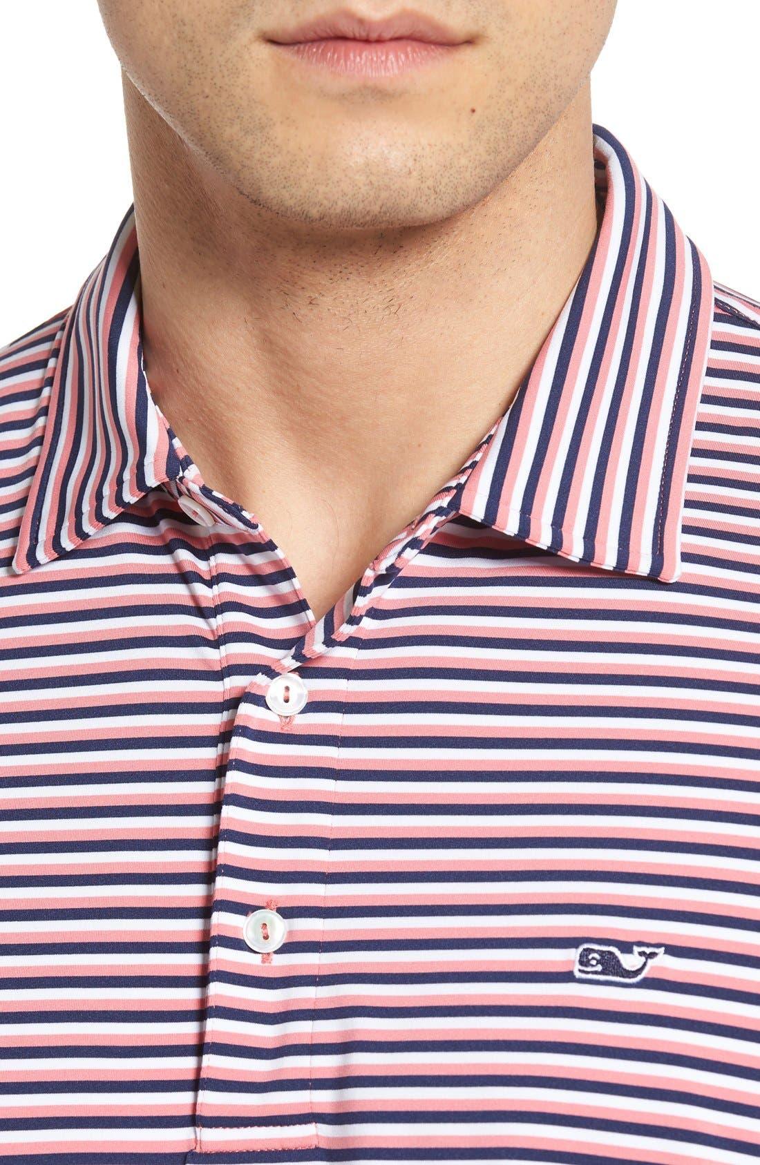 Kennedy Stripe Golf Polo,                             Alternate thumbnail 72, color,