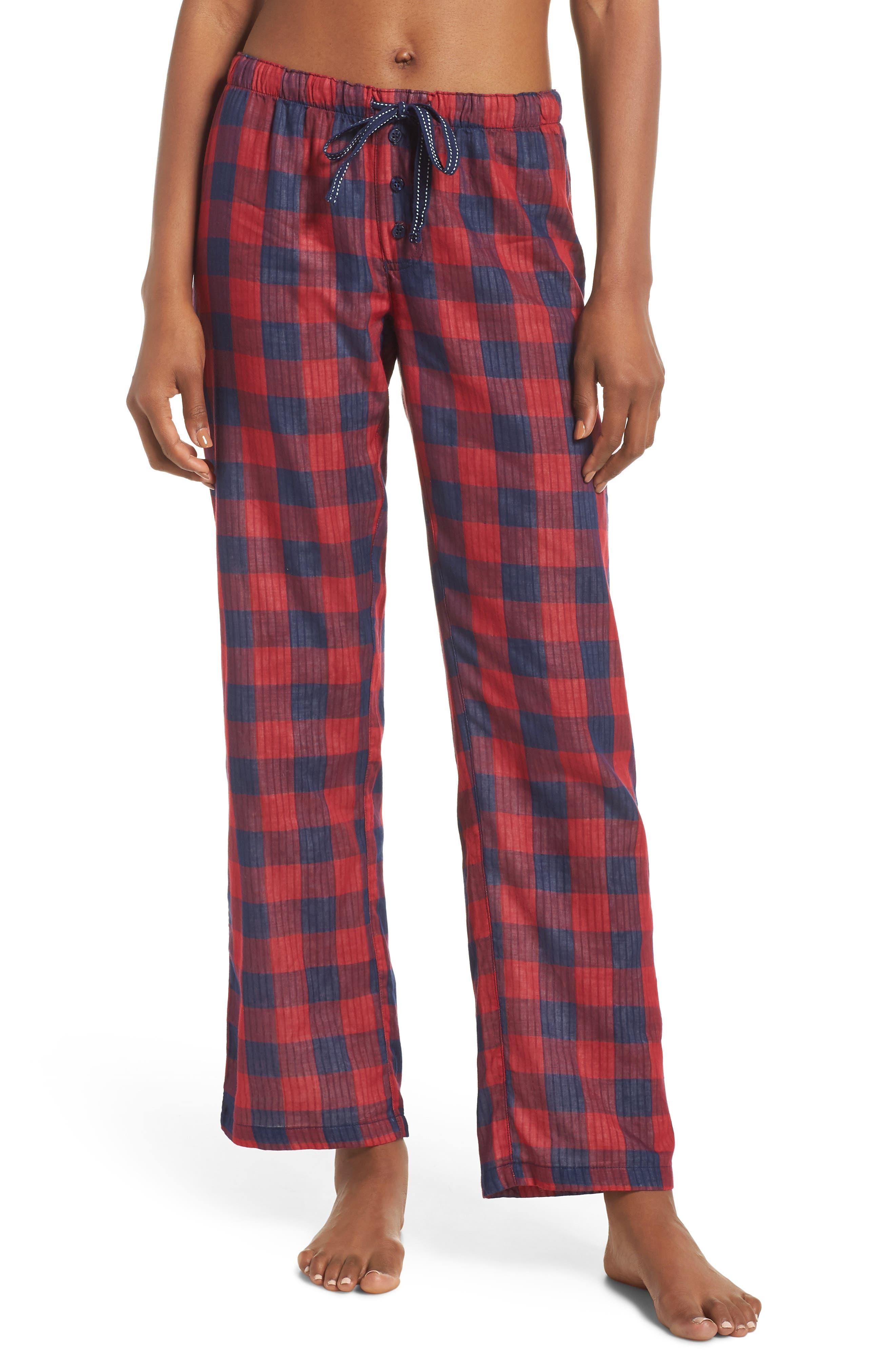 Check Lounge Pants,                             Main thumbnail 1, color,                             RED