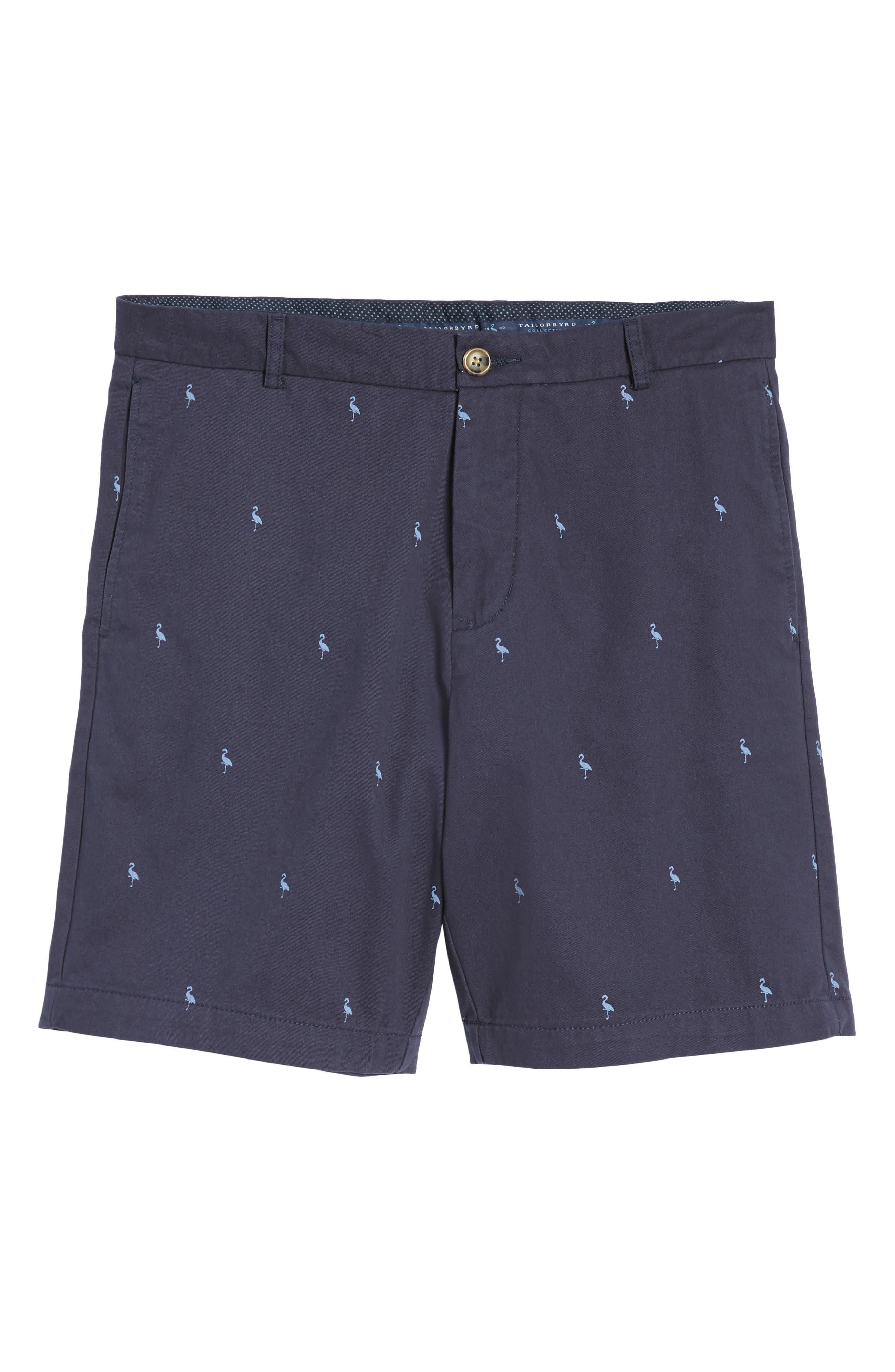 Barlow Bird Regular Fit Chino Shorts,                             Alternate thumbnail 6, color,                             404