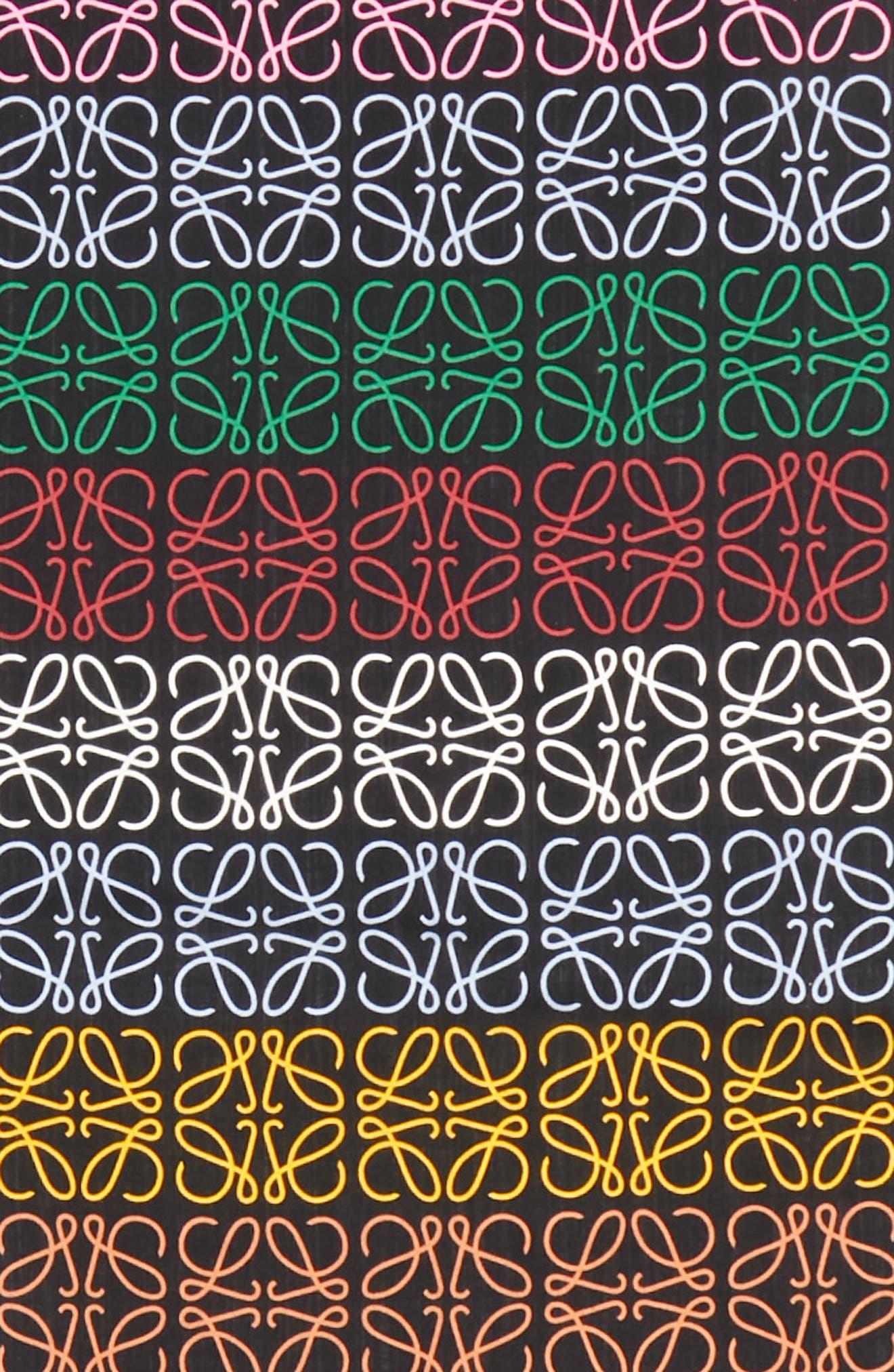 Monogram Stripe Scarf,                             Alternate thumbnail 4, color,                             MULTICOLOR/ BLACK