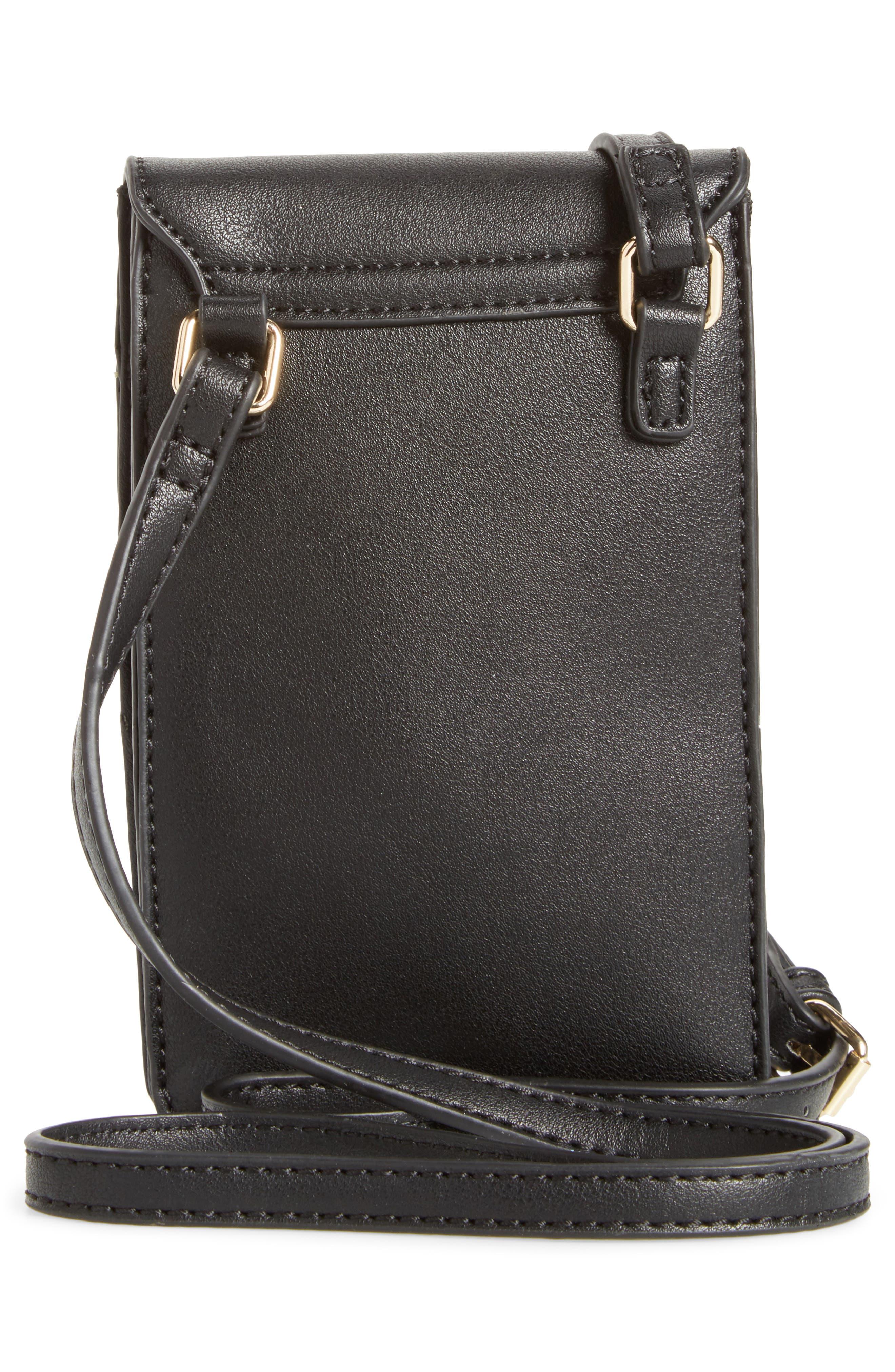 Zipper Phone Crossbody Bag,                             Alternate thumbnail 3, color,                             001
