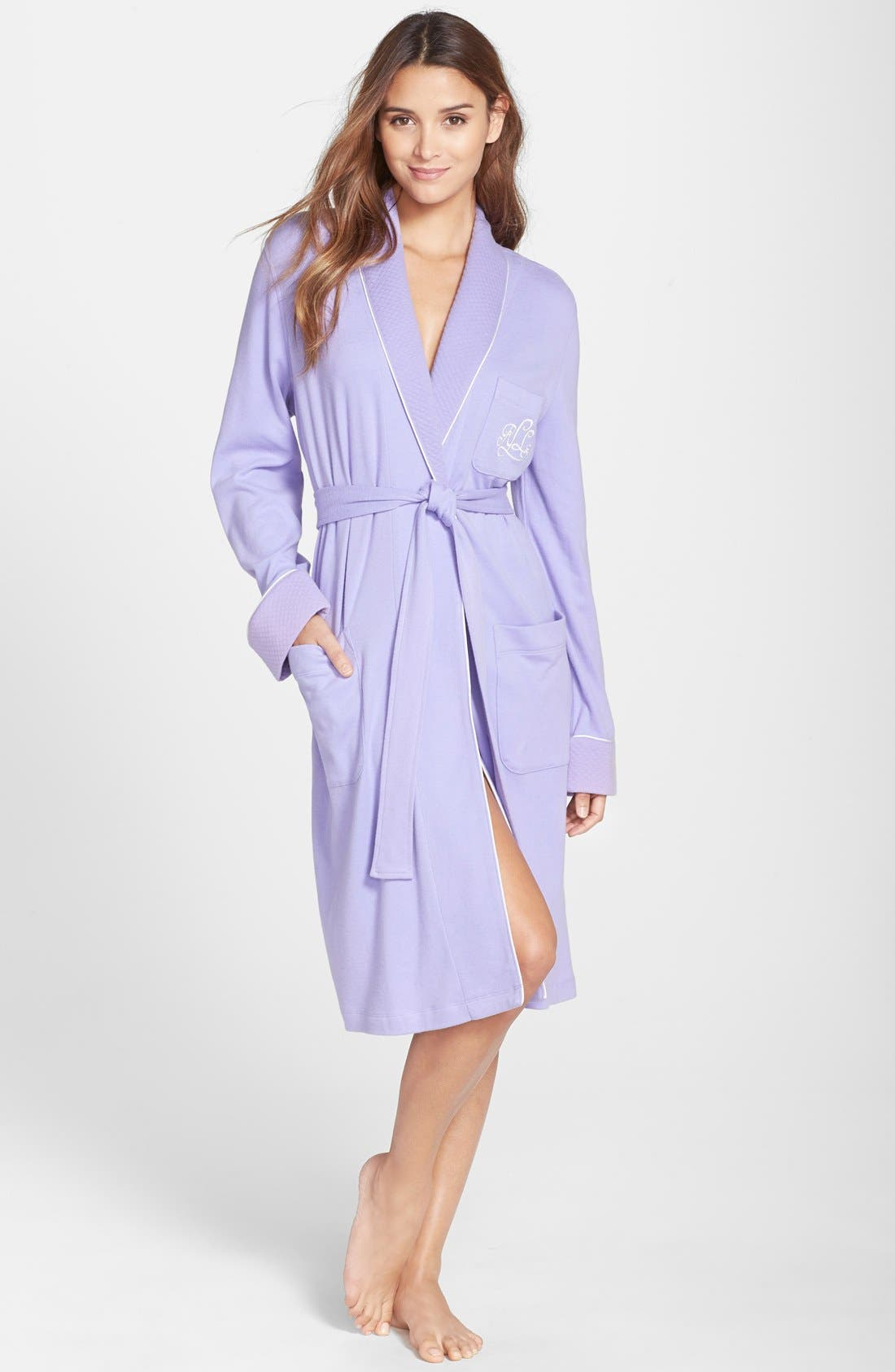 Quilted Collar Robe,                             Main thumbnail 11, color,