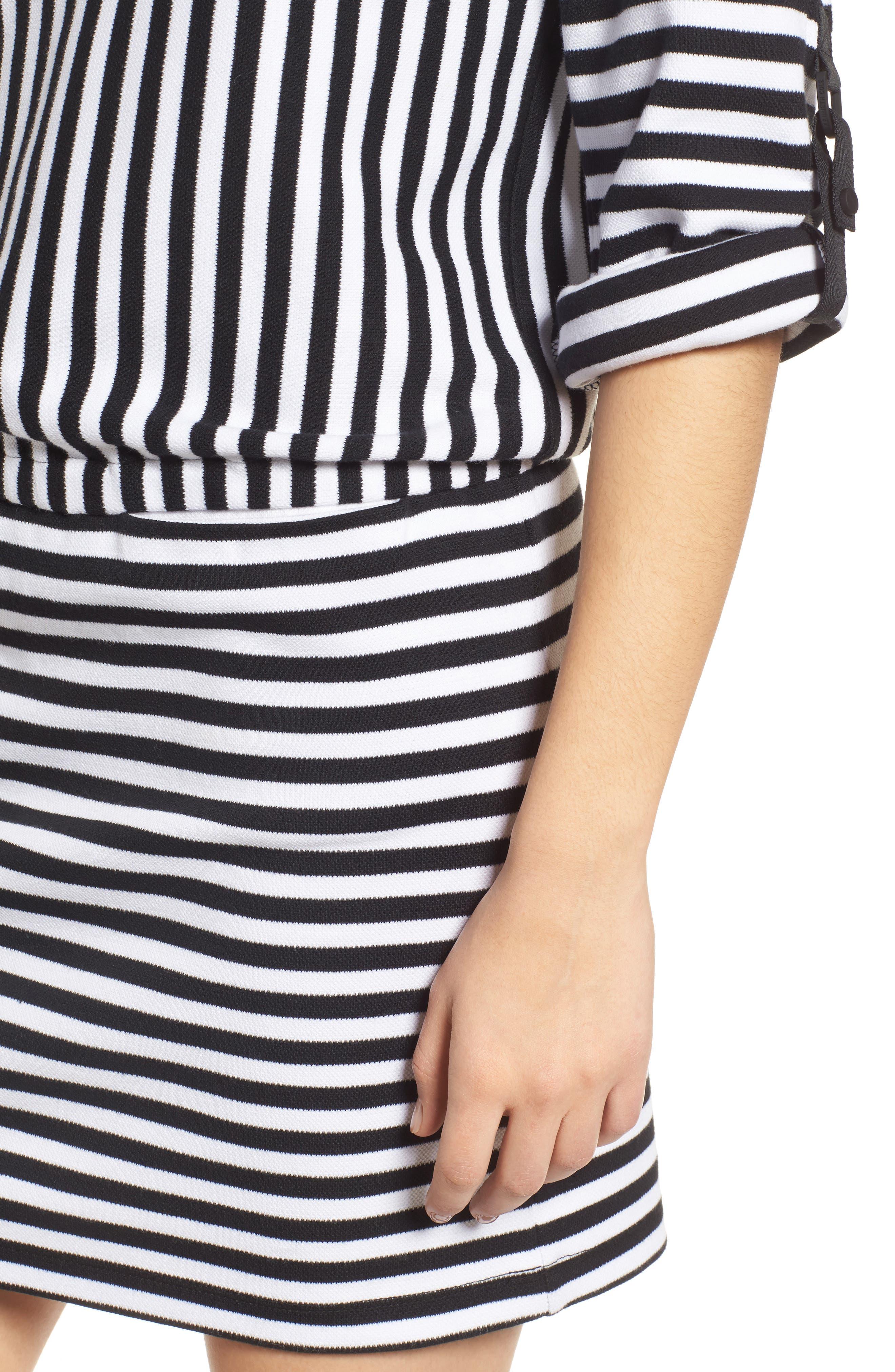 Mock Neck Tee Dress,                             Alternate thumbnail 4, color,                             014