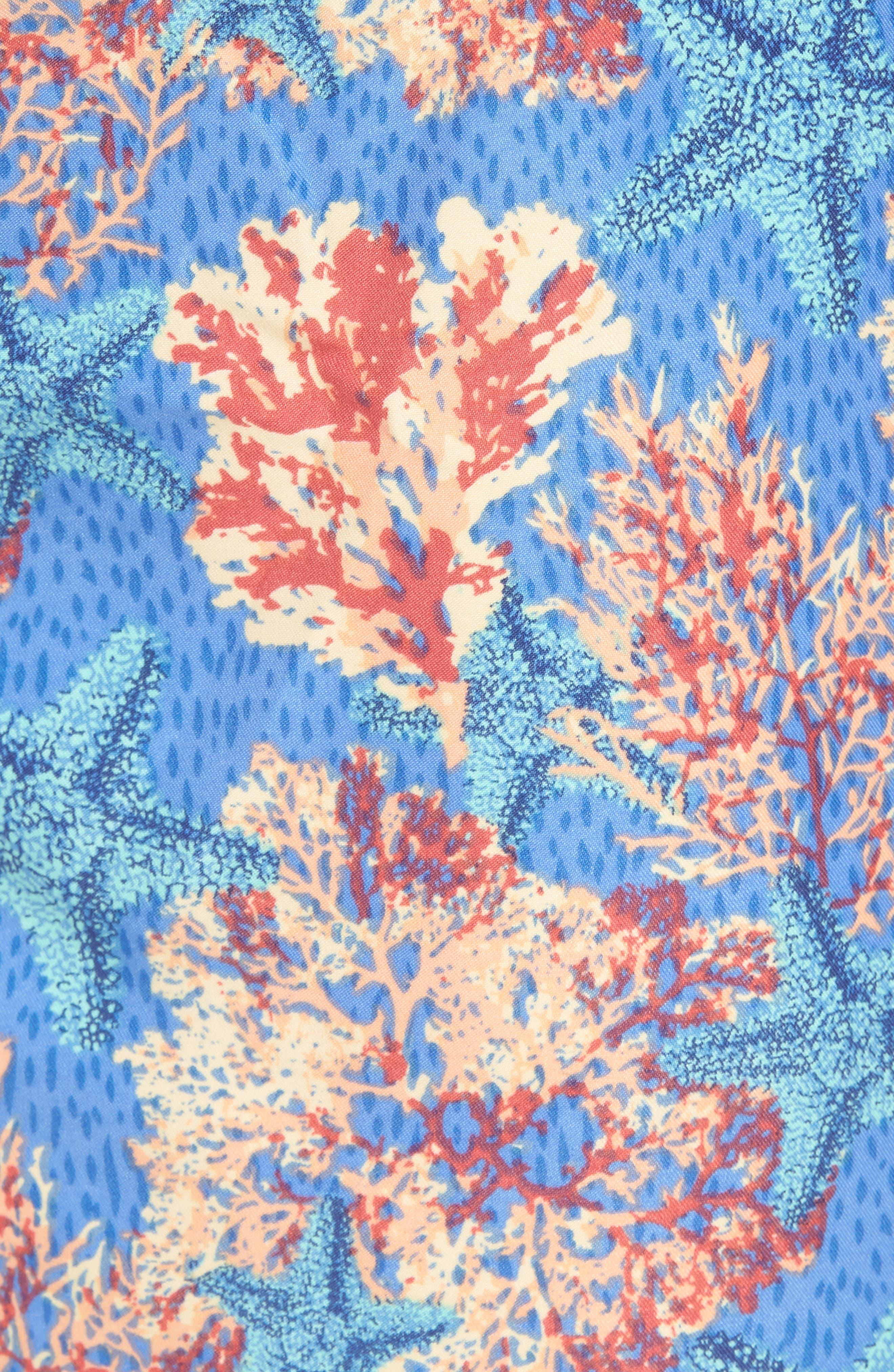 PETER MILLAR,                             Stars & Coral Swim Trunks,                             Alternate thumbnail 5, color,                             424