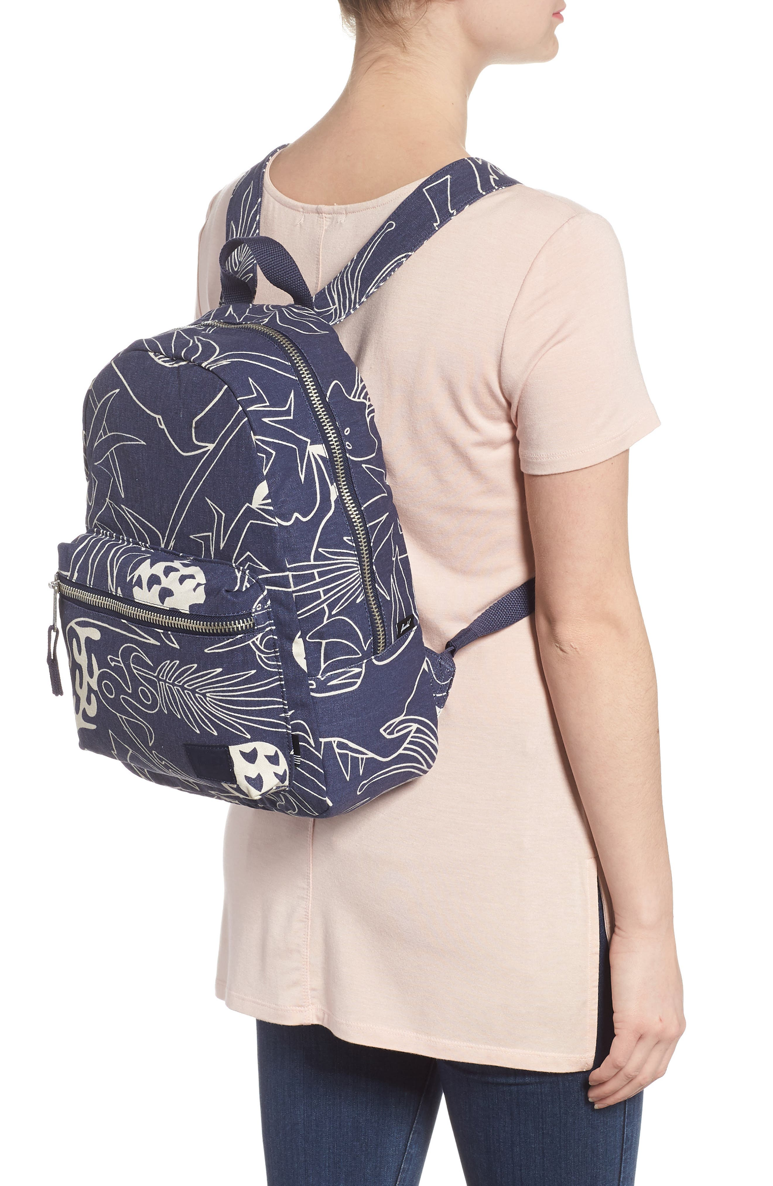 X-Small Grove Cotton Canvas Backpack,                             Alternate thumbnail 8, color,