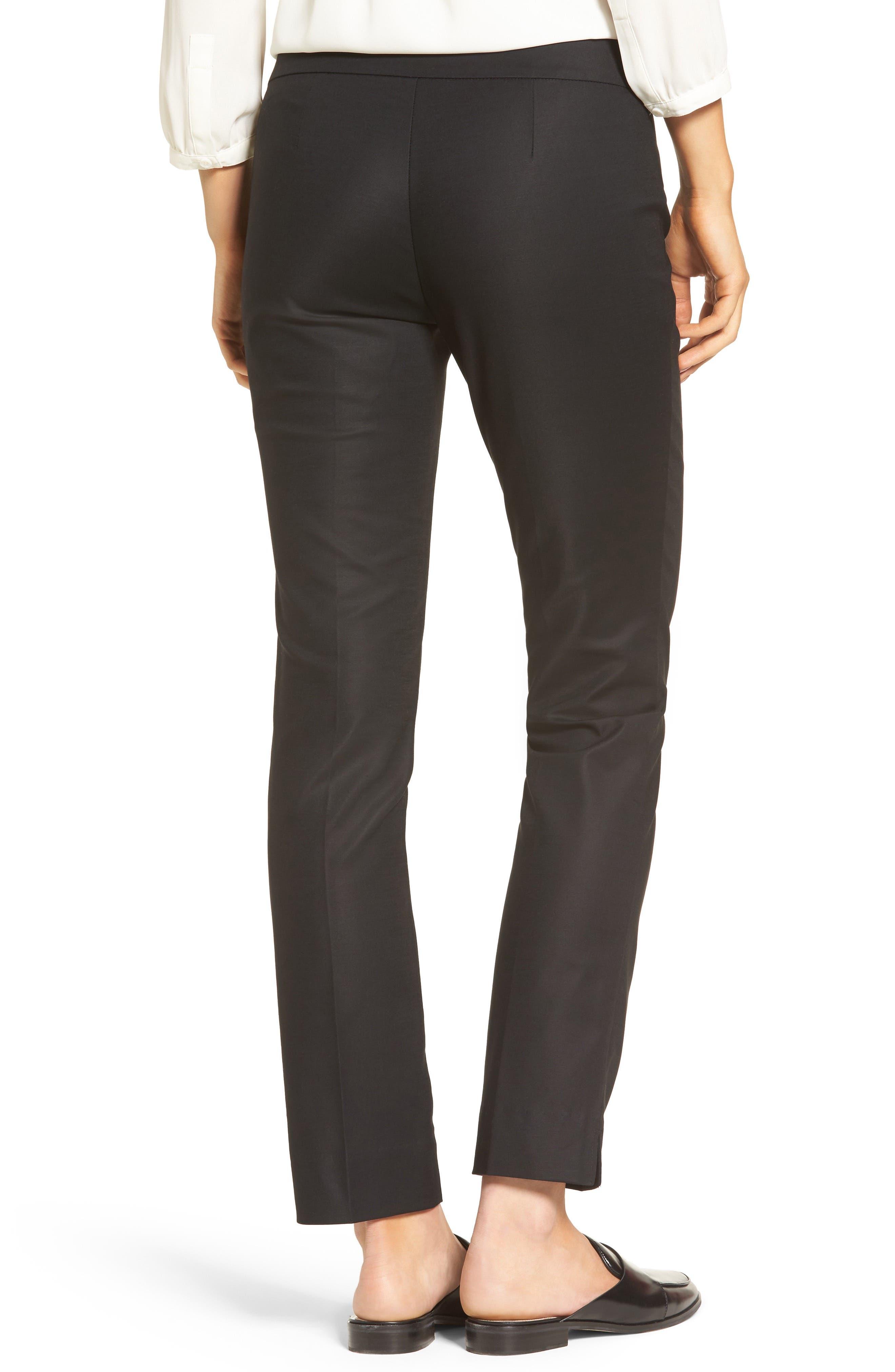 The Perfect Slim Ankle Pants,                             Alternate thumbnail 2, color,                             BLACK ONYX