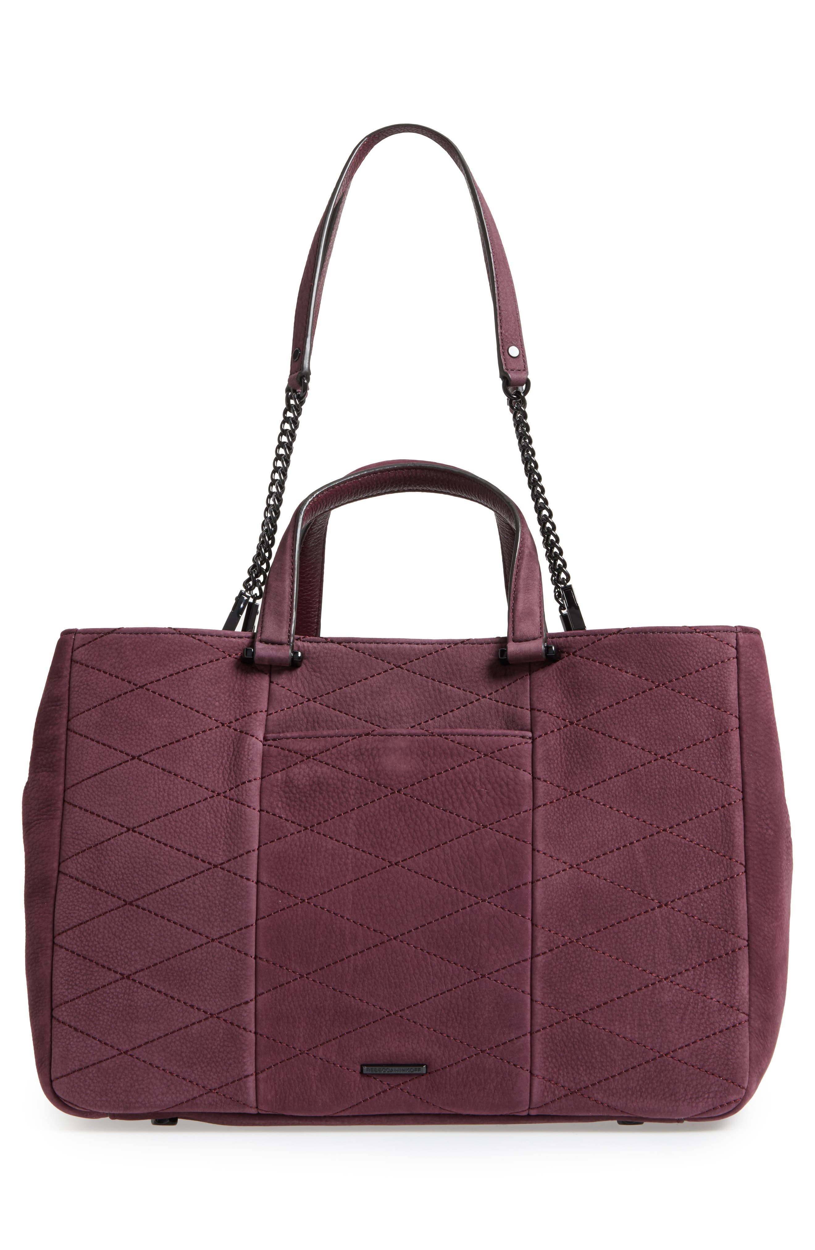 Je T'Aime Leather Laptop Work Tote,                             Alternate thumbnail 3, color,