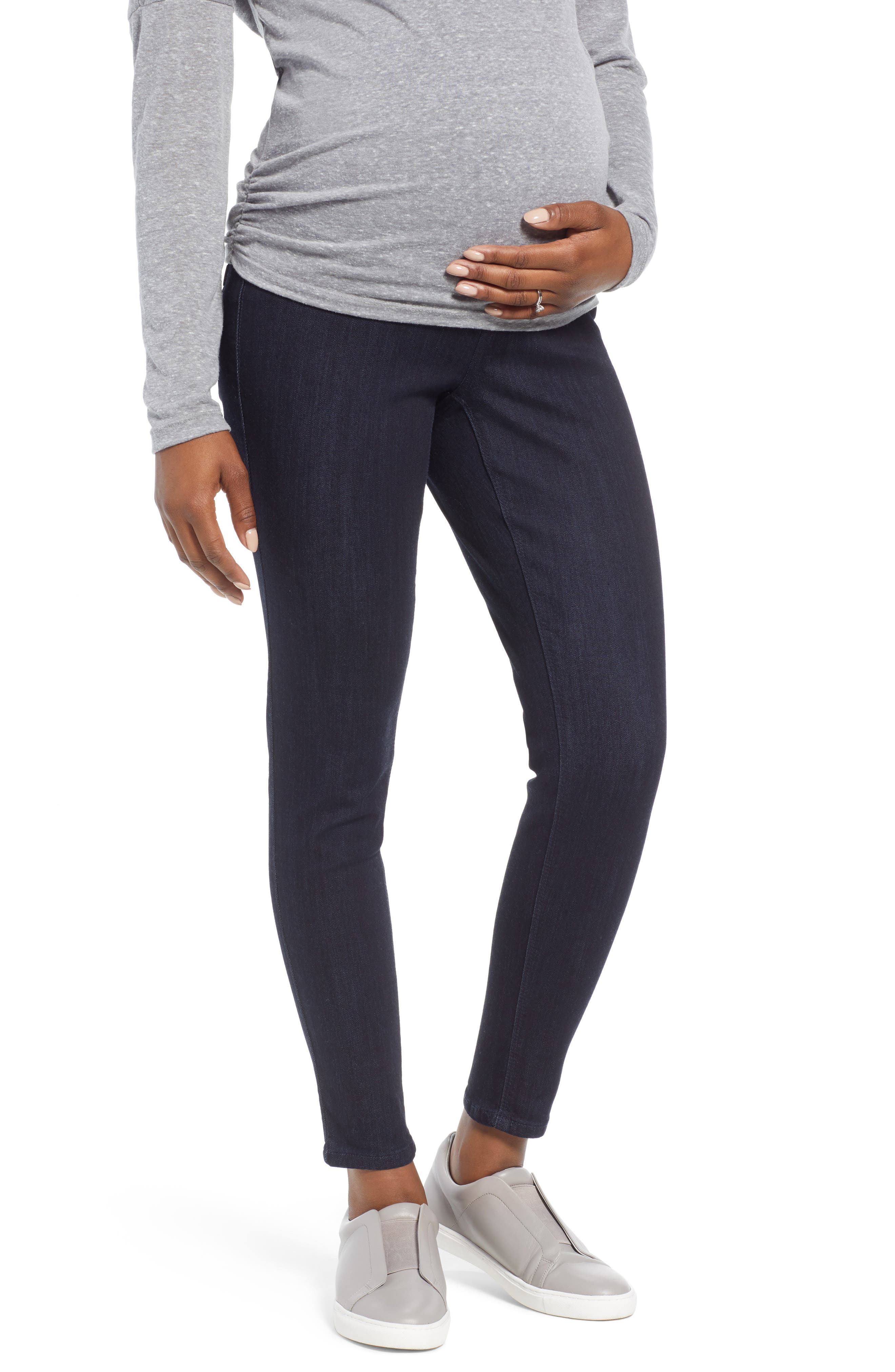 Ankle Skinny Maternity Jeans,                             Main thumbnail 1, color,                             RINSE