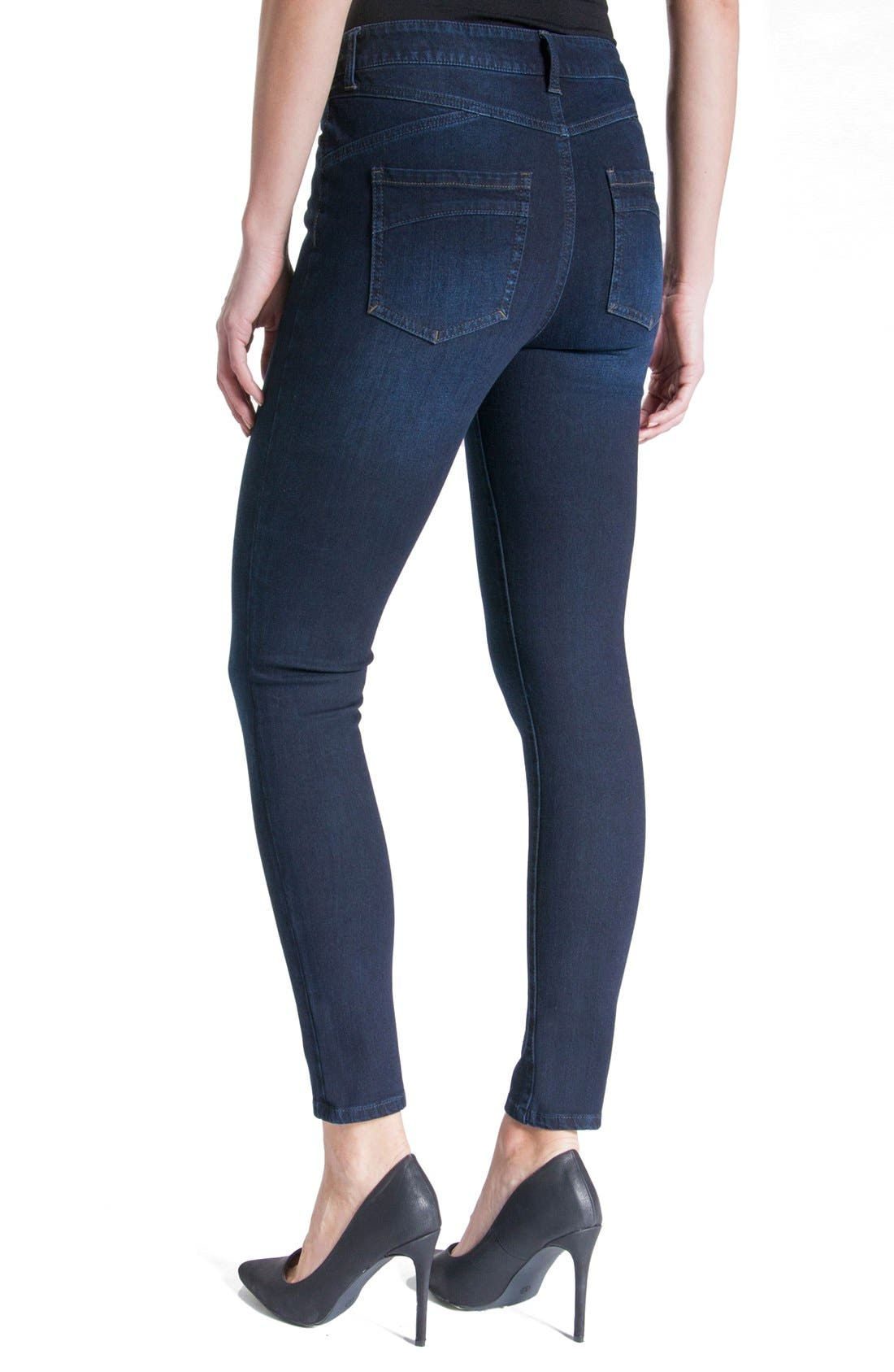Jeans Company Piper Hugger Lift Sculpt Ankle Skinny Jeans,                             Alternate thumbnail 13, color,