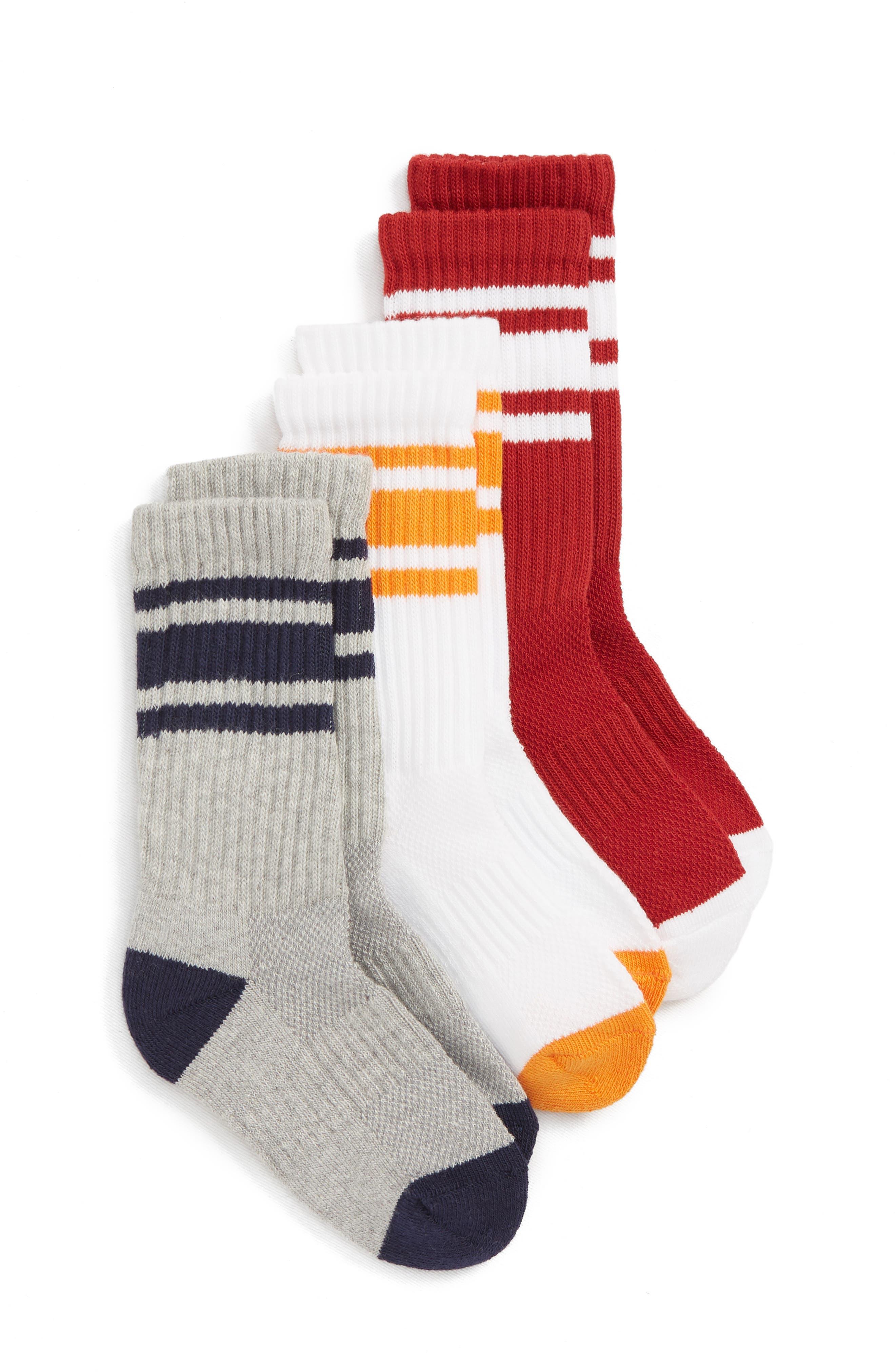 3-Pack Tube Socks,                         Main,                         color, NAVY PEACOAT MULTI