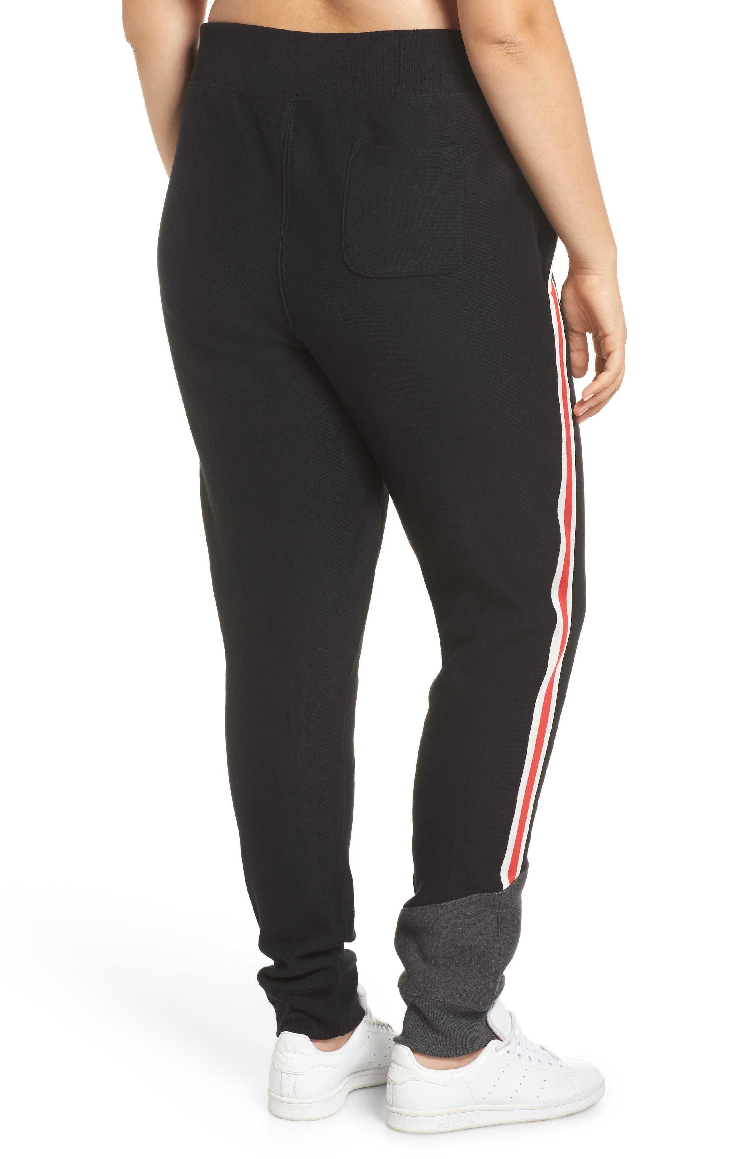 Color Block Jogger Pants,                             Alternate thumbnail 6, color,                             BLACK/ GRANITE HEATHER