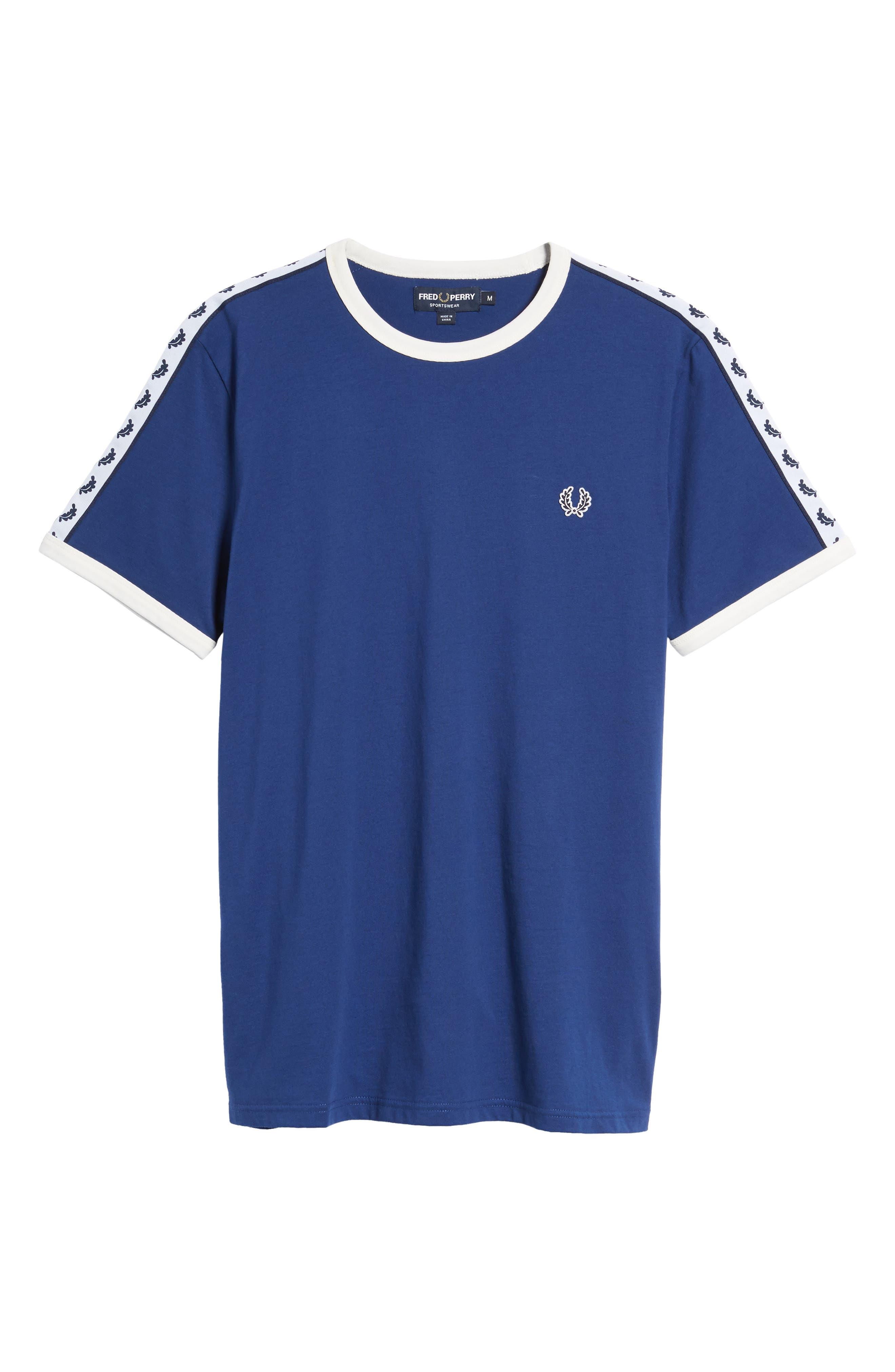 Extra Trim Fit Cotton Ringer T-Shirt,                             Alternate thumbnail 6, color,                             405