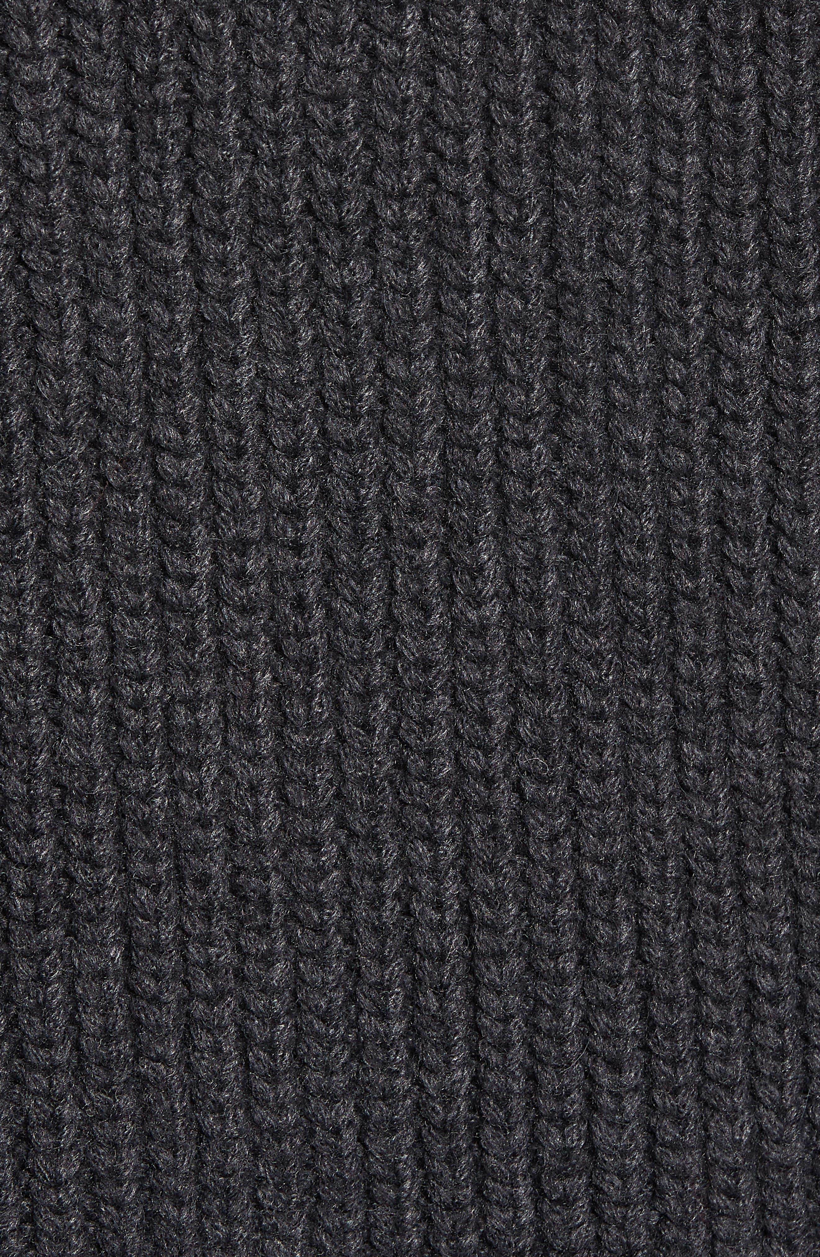 Chunky Wool Alpaca Shaker Cardigan,                             Alternate thumbnail 5, color,                             025