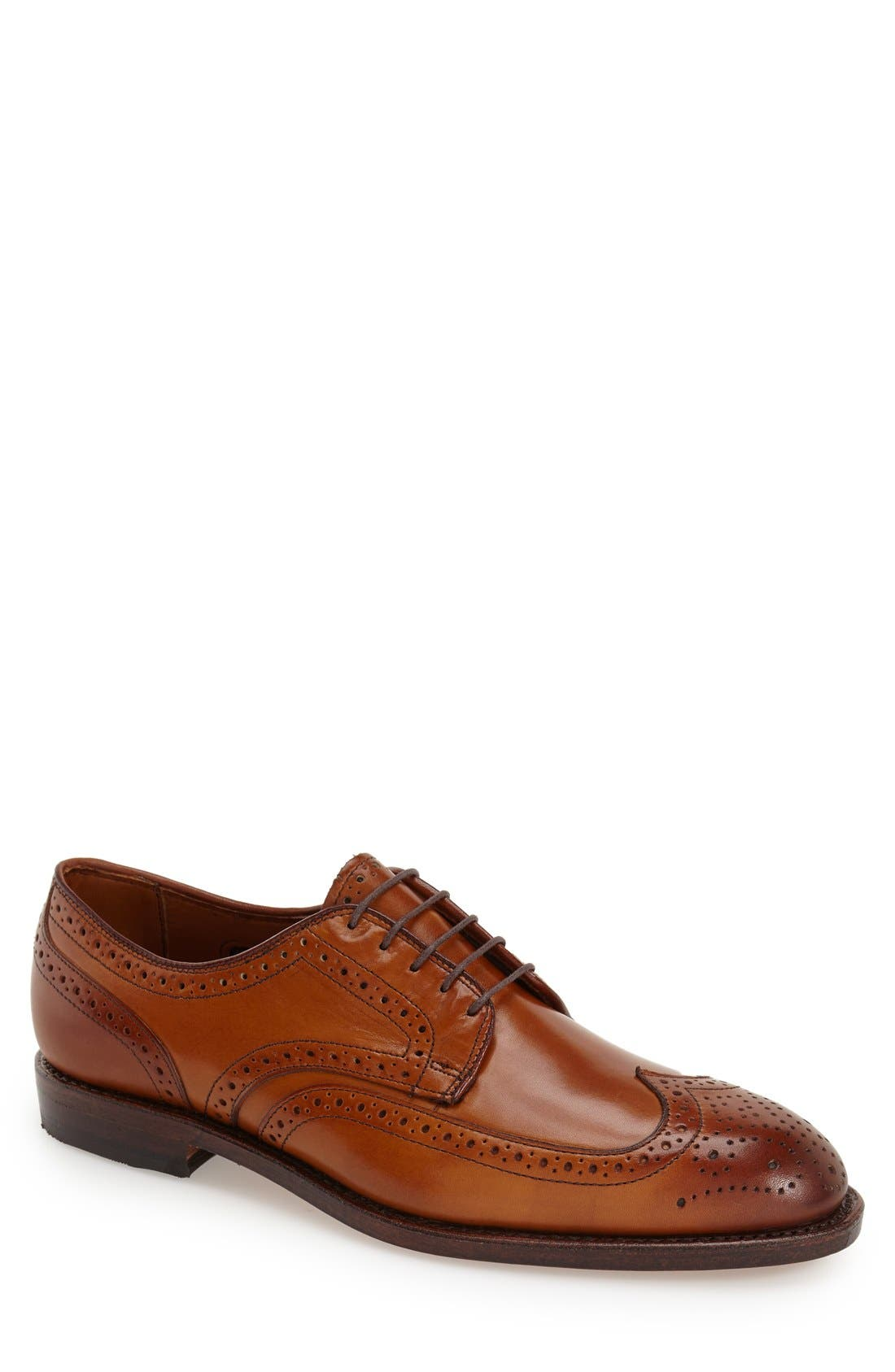 'Madison Park' Wingtip,                             Main thumbnail 1, color,                             WALNUT LEATHER