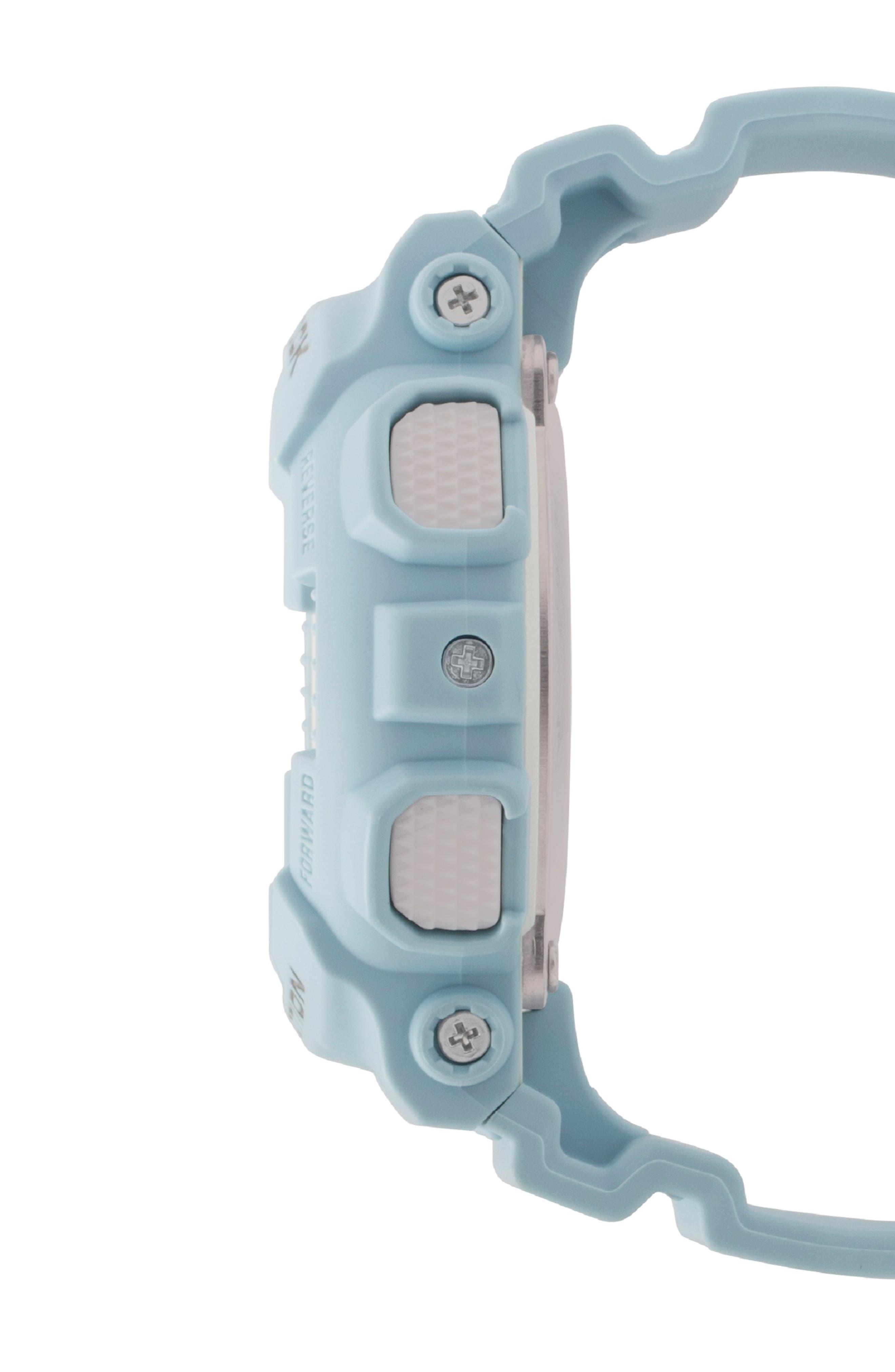 G-Shock S-Series Ana-Digi Resin Watch, 46mm,                             Alternate thumbnail 3, color,                             BLUE