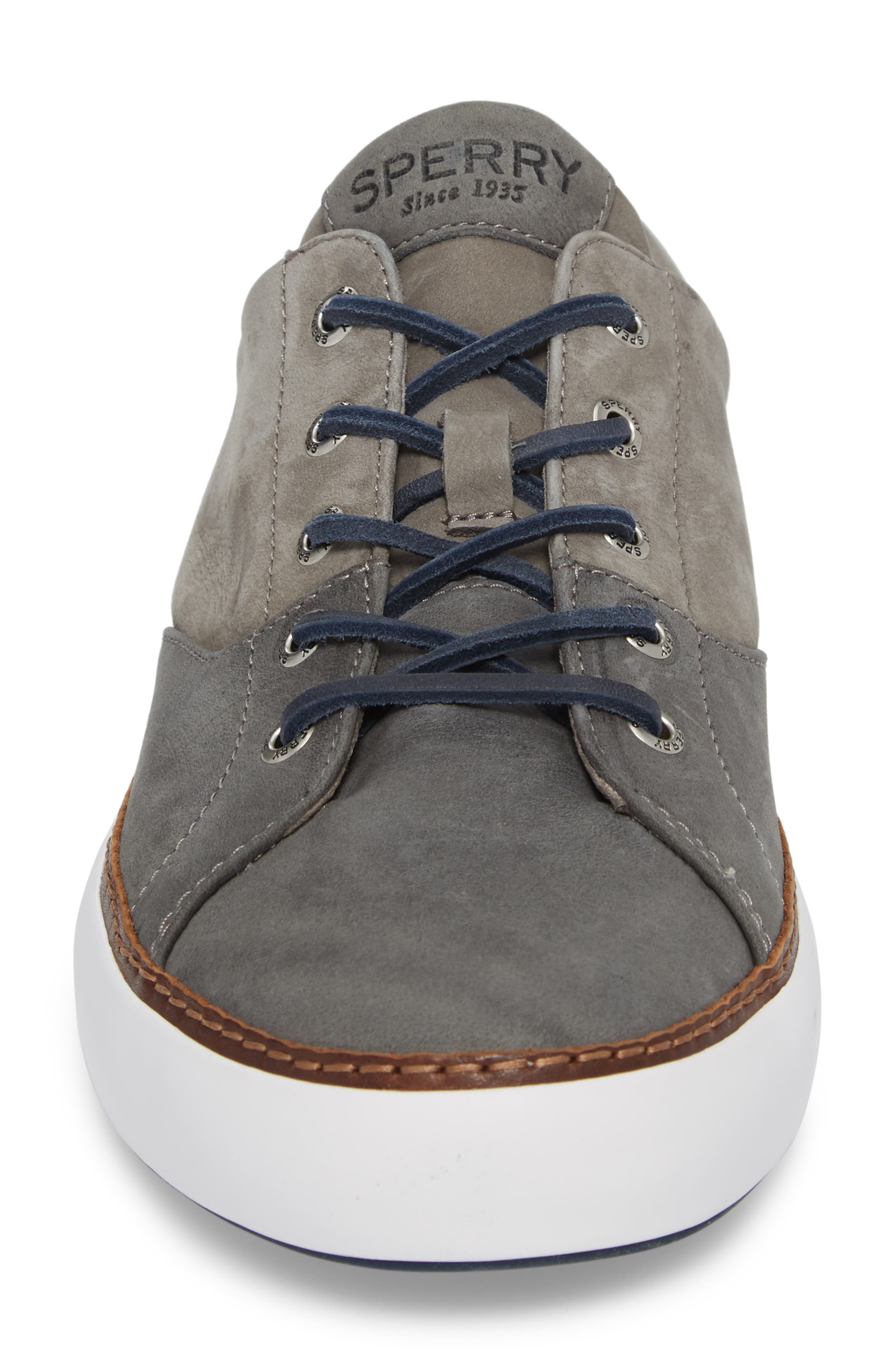 Gold Cup Haven Sneaker,                             Alternate thumbnail 4, color,                             GREY LEATHER