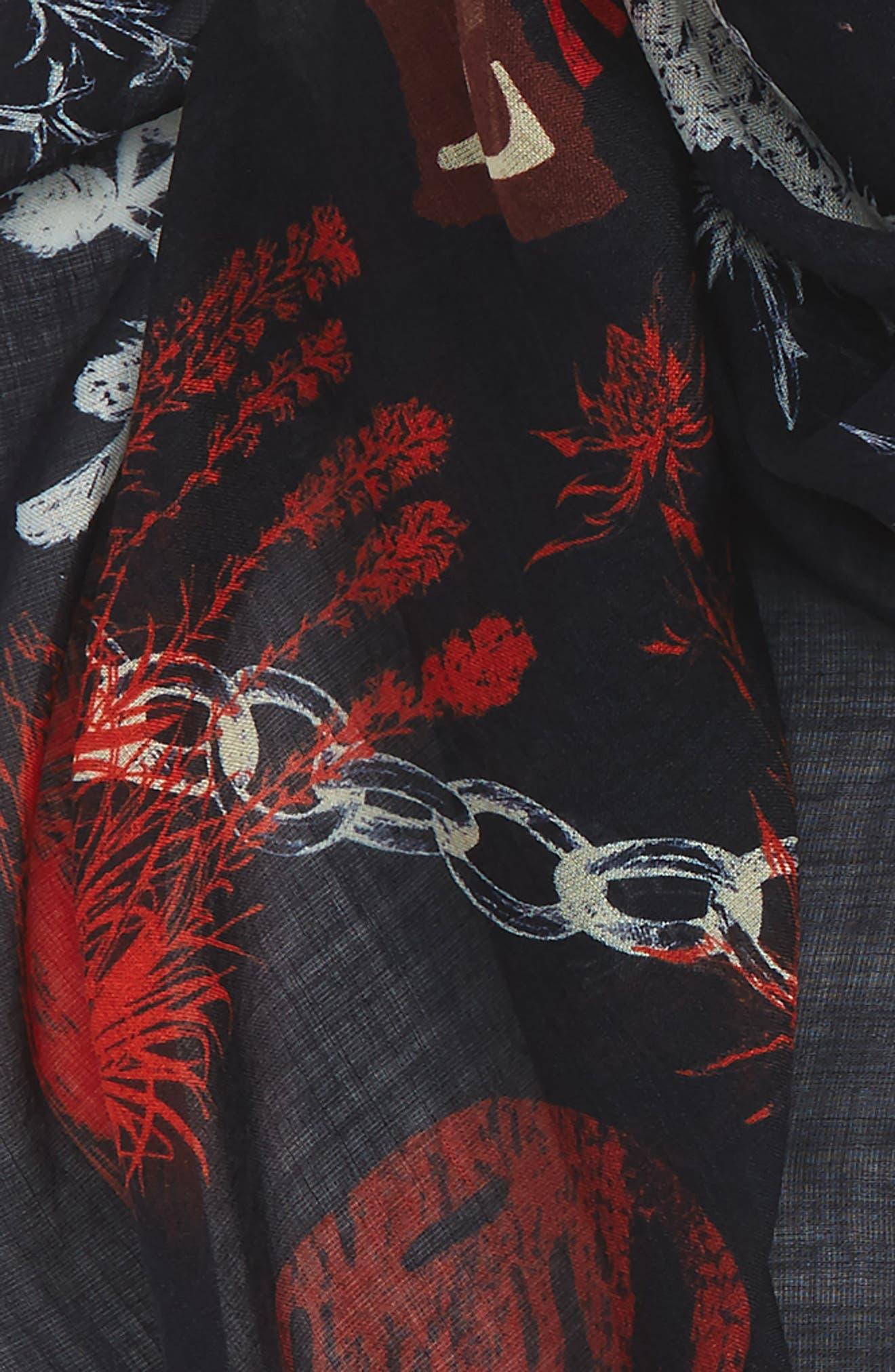Ramson Wool & Silk Scarf,                             Alternate thumbnail 3, color,                             001