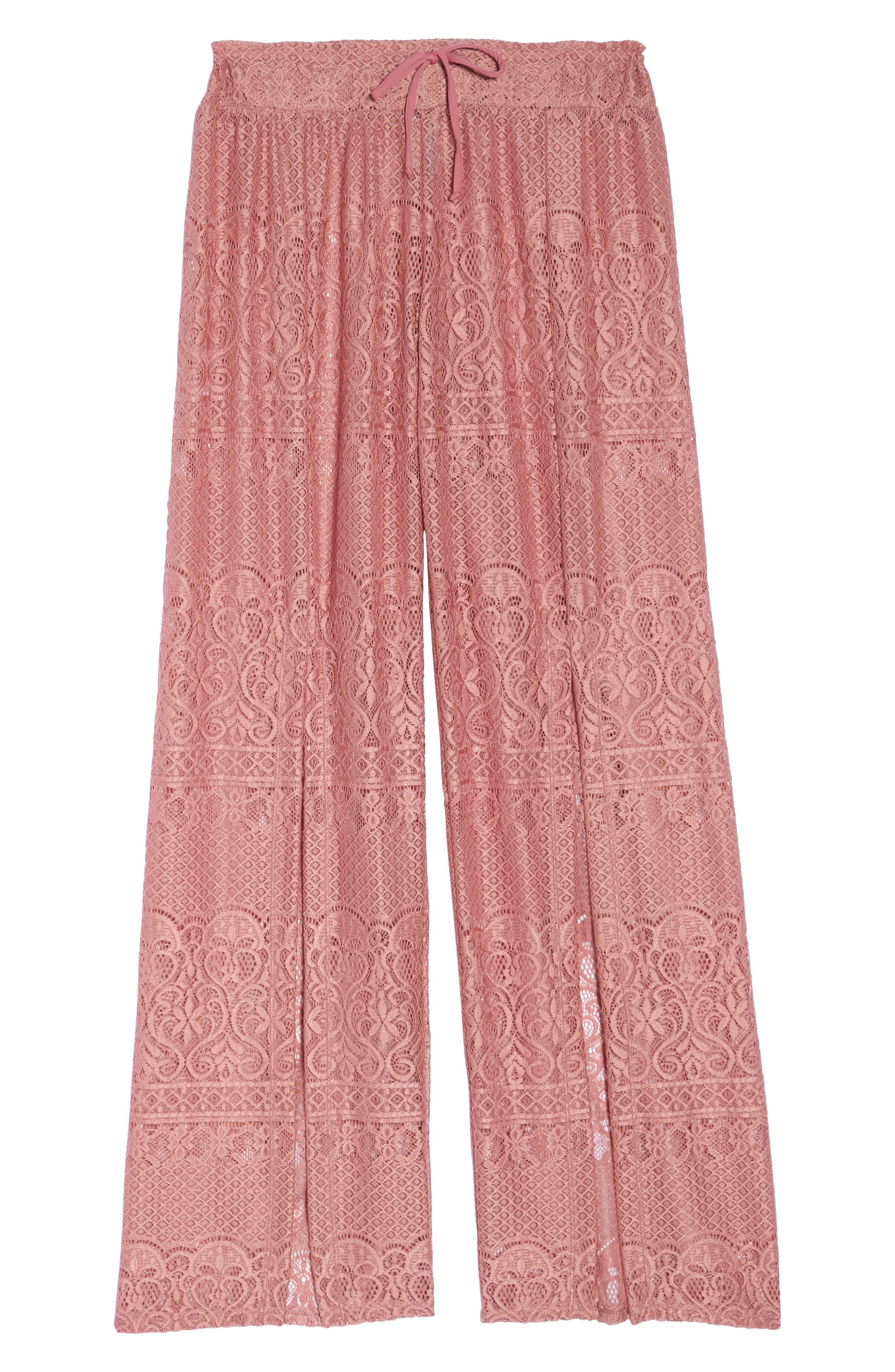 About Lace Cover-Up Pants,                             Alternate thumbnail 6, color,                             DUSTY ROSE