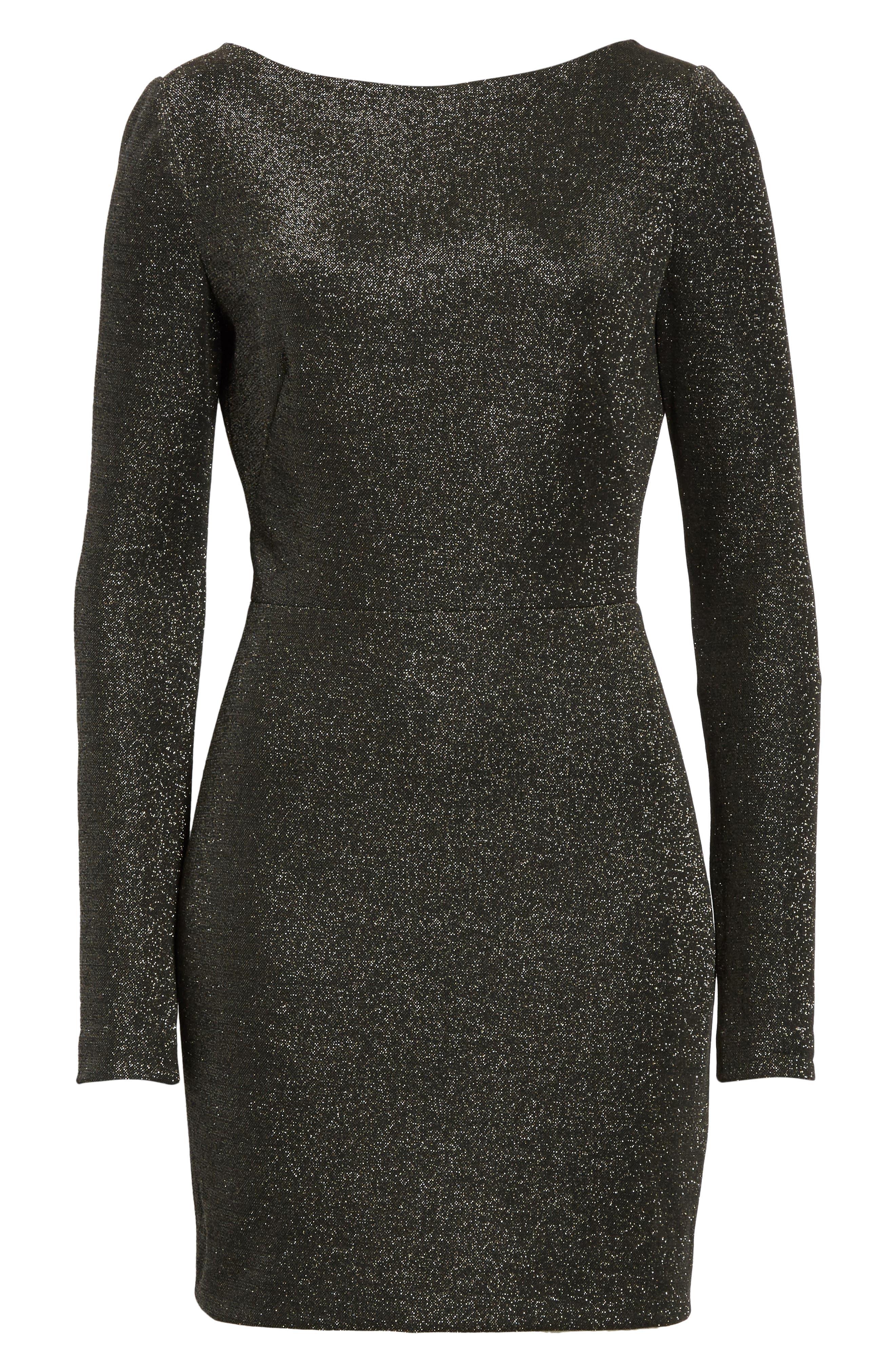 Diane von Furstenberg Sparkle Sheath Minidress,                             Alternate thumbnail 6, color,                             001
