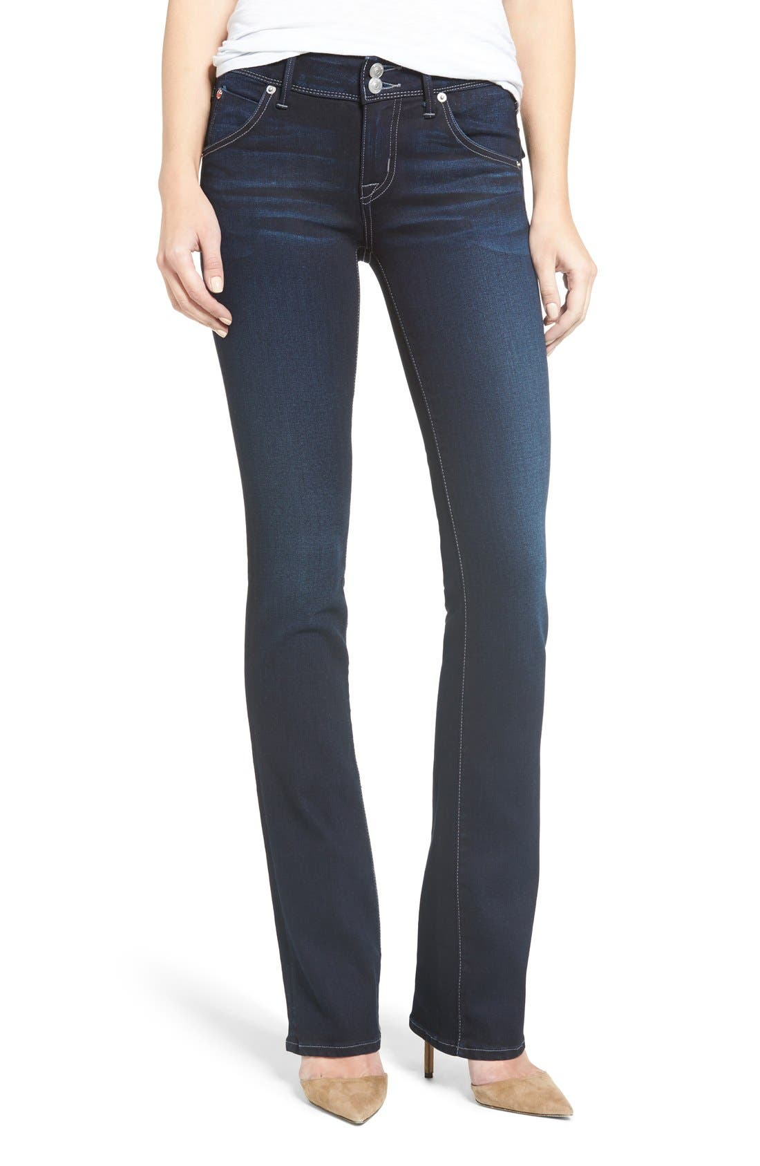 'Beth' Baby Bootcut Jeans,                             Alternate thumbnail 6, color,                             402
