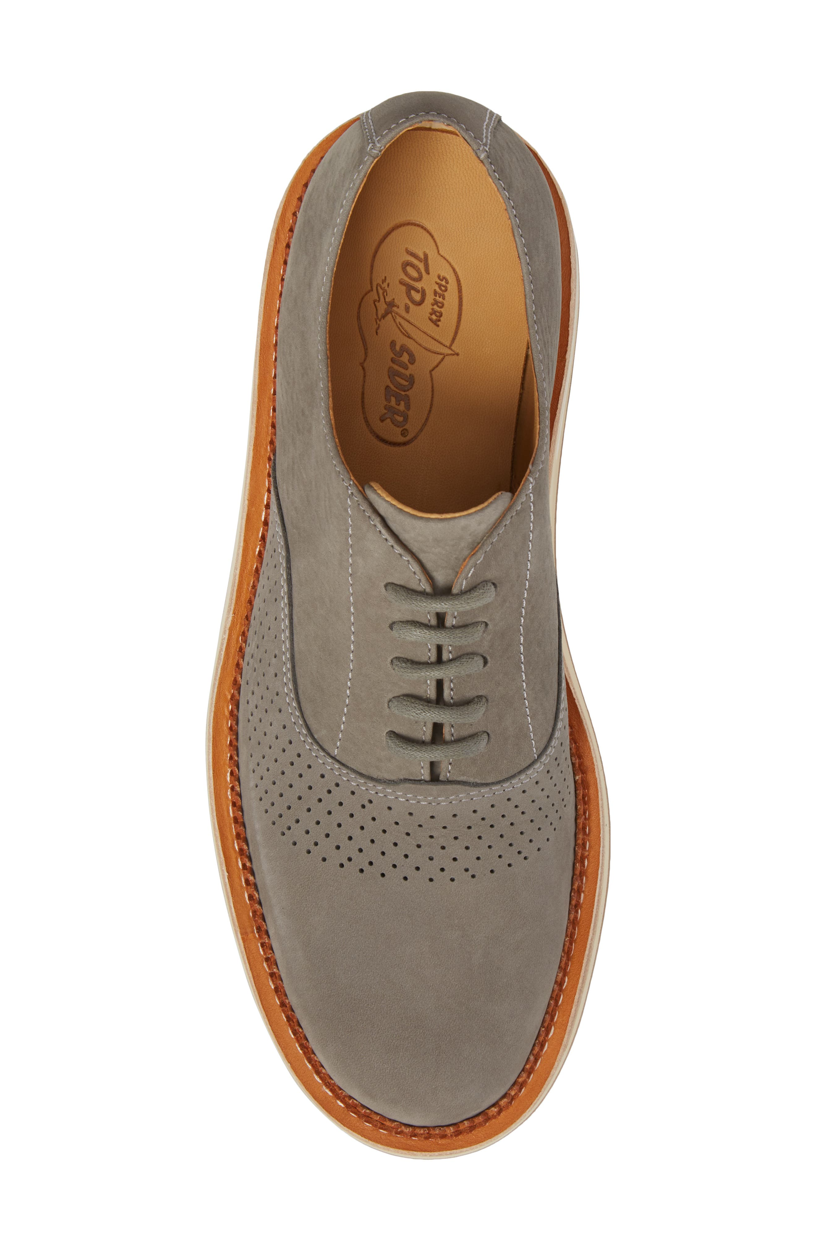 Cloud Perforated Oxford,                             Alternate thumbnail 5, color,                             GREY