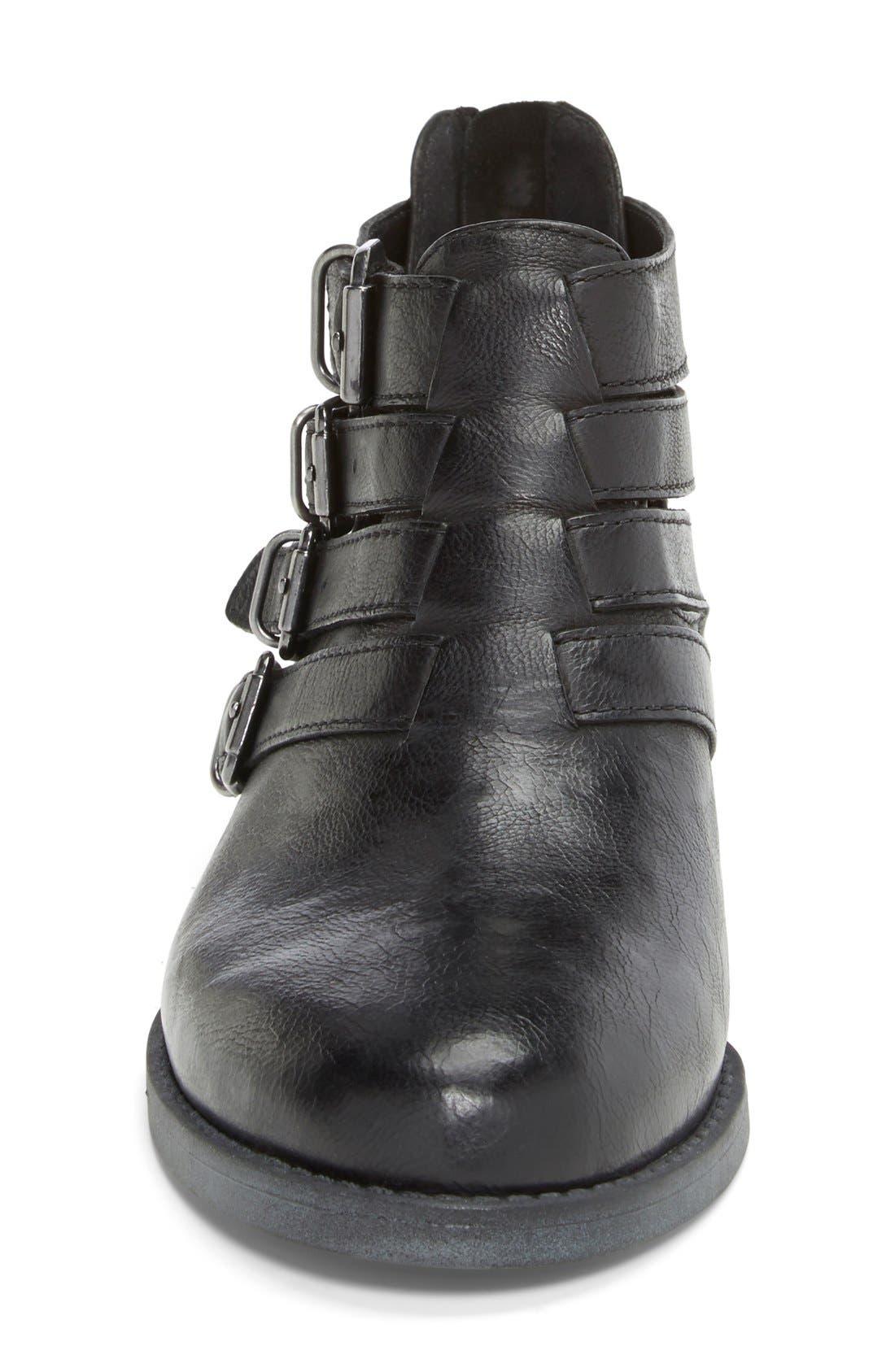 'Ronan' Buckle Leather Bootie,                             Alternate thumbnail 14, color,