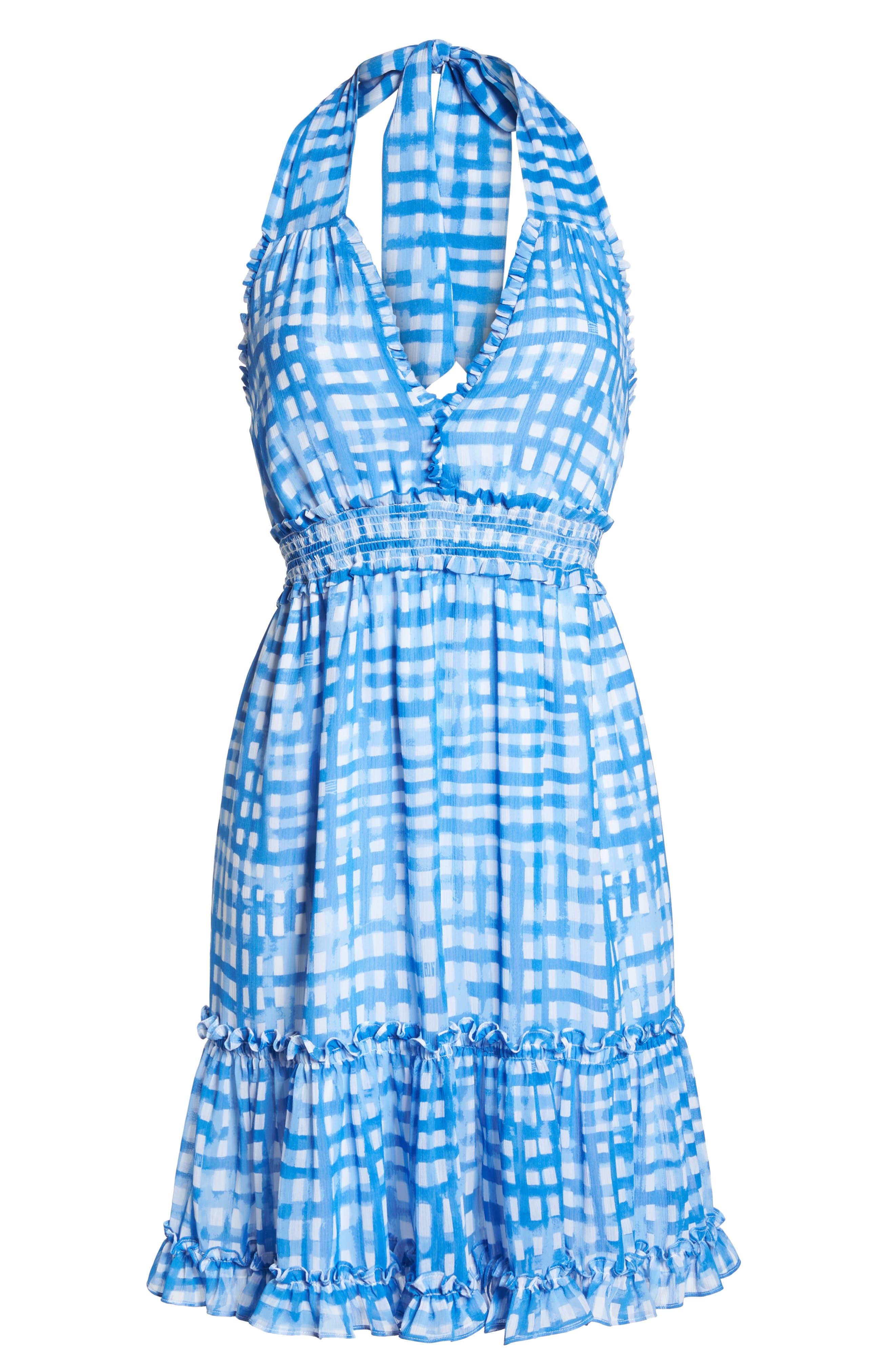 Cailee Halter Dress,                             Alternate thumbnail 6, color,                             420