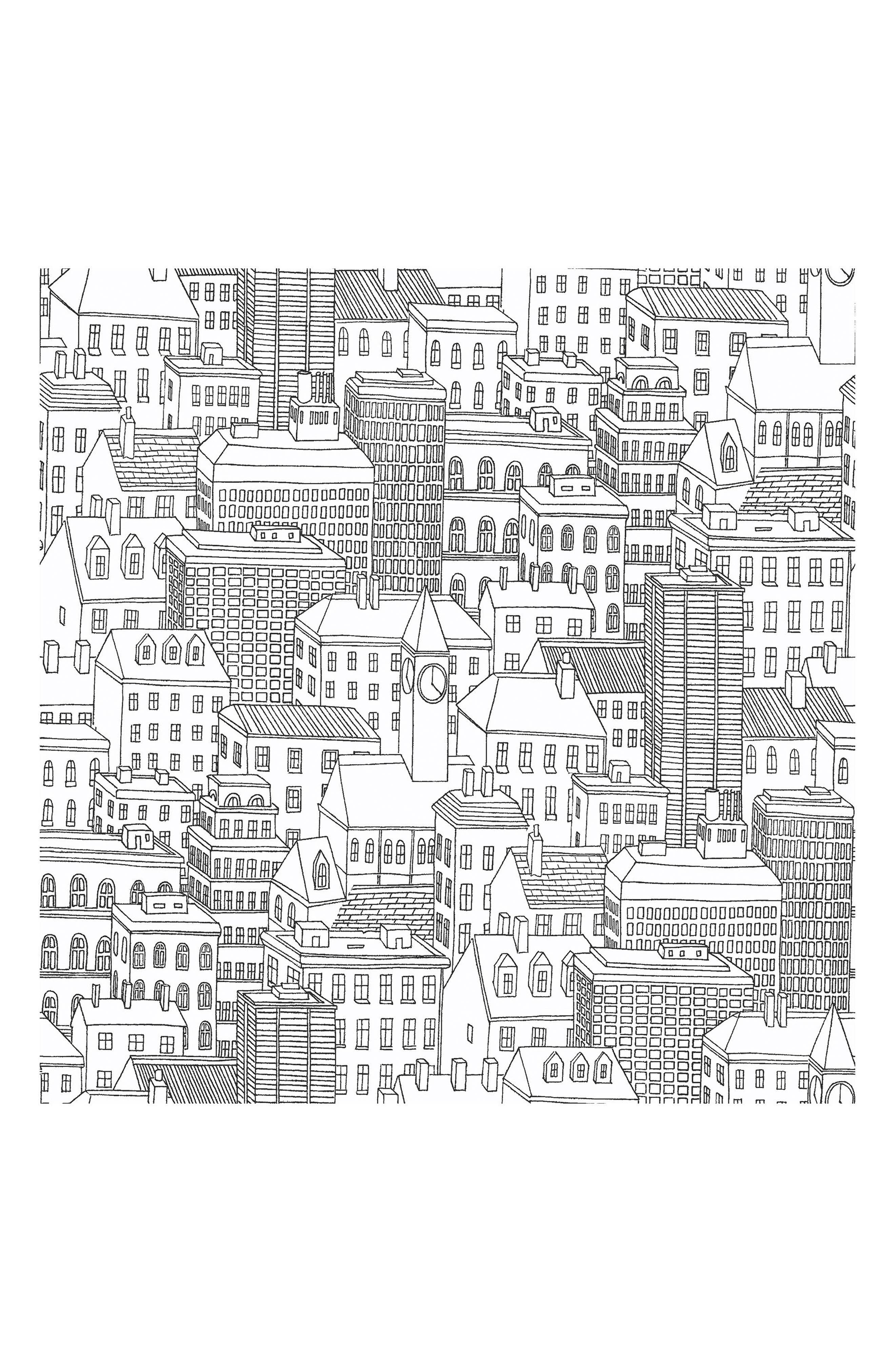 Metropolis Peel & Stick Vinyl Wallpaper,                             Main thumbnail 1, color,                             001