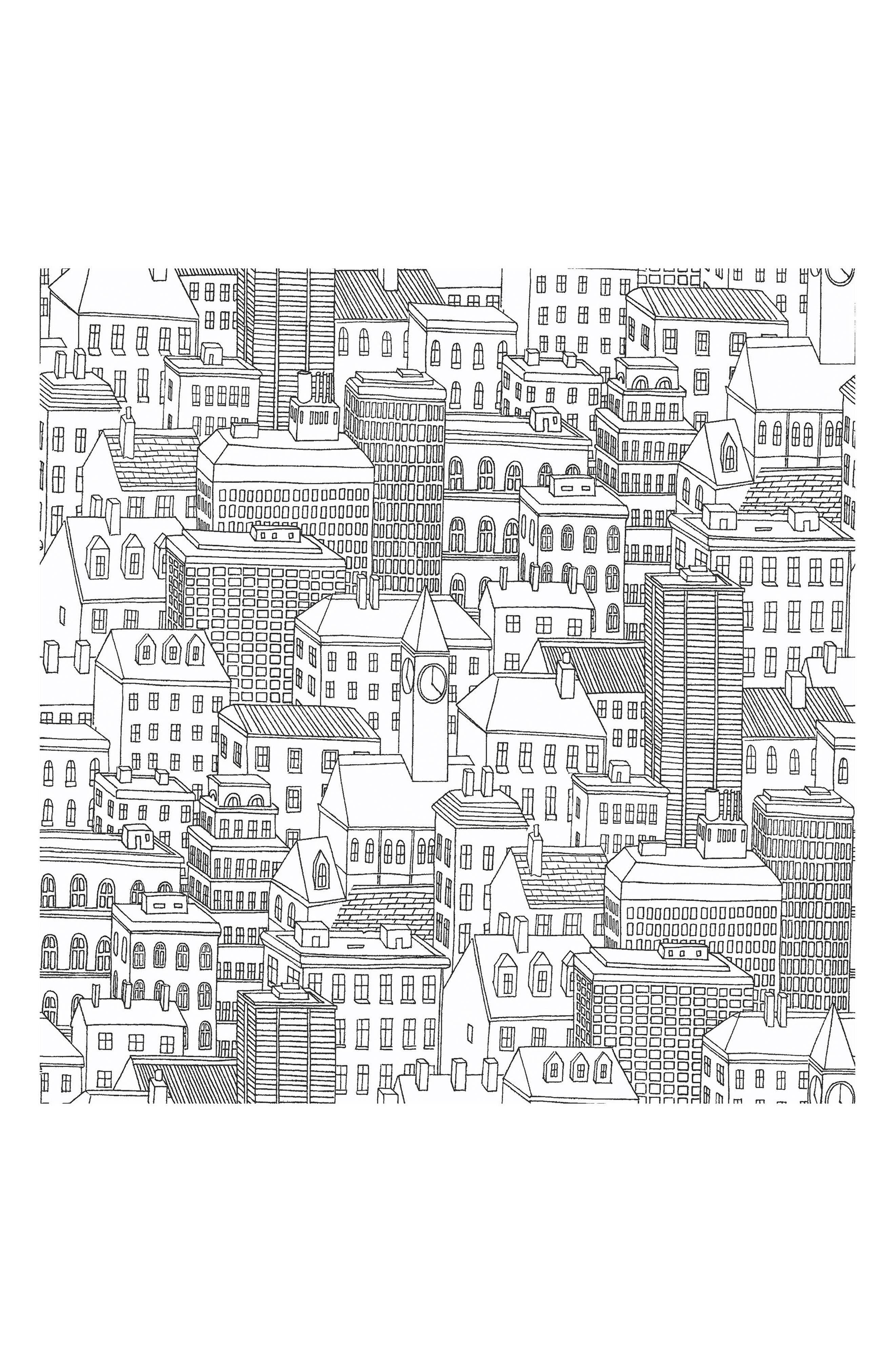 Metropolis Peel & Stick Vinyl Wallpaper,                         Main,                         color, 001