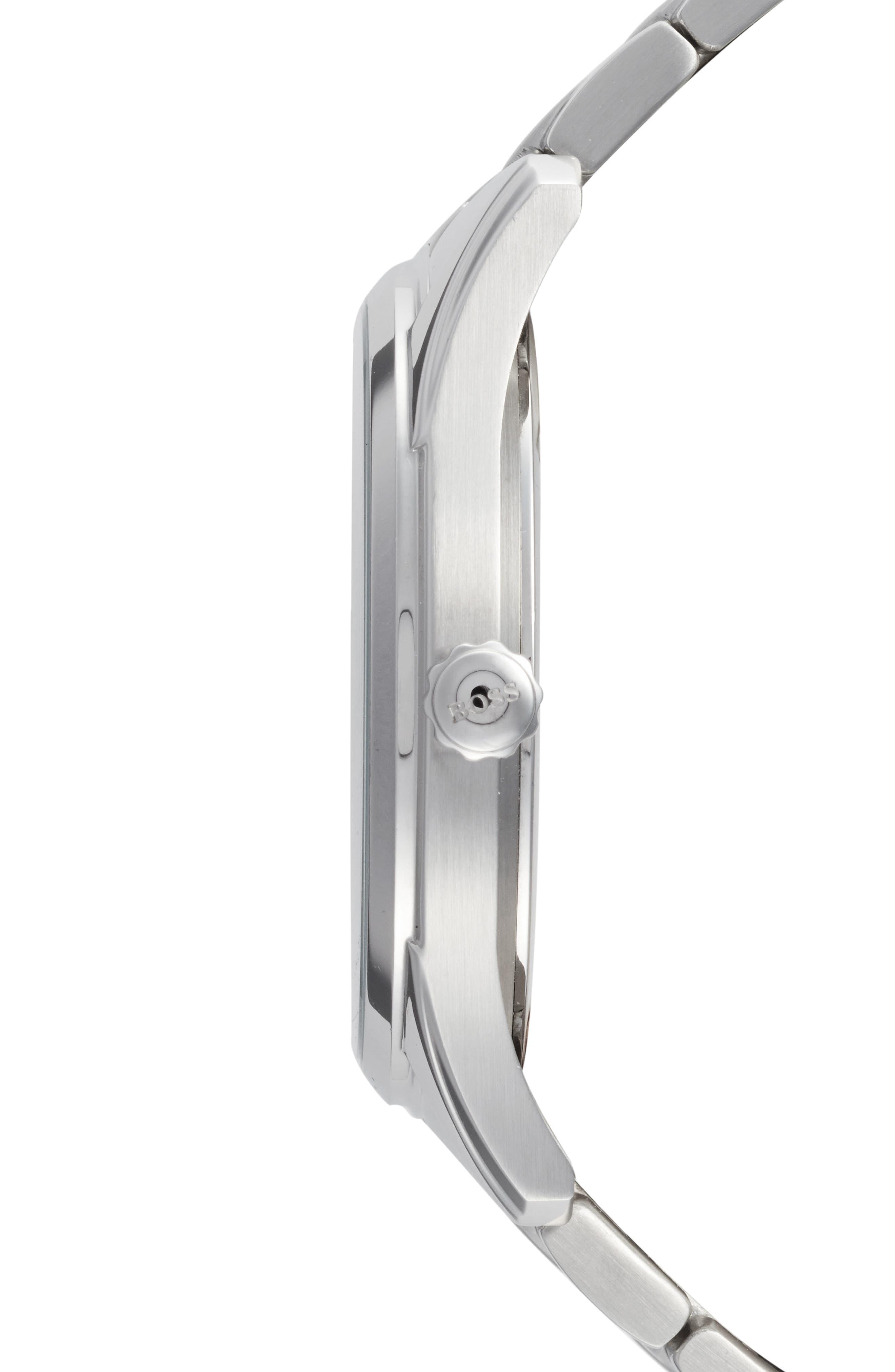 Commander Multifunction Bracelet Watch, 41mm,                             Alternate thumbnail 3, color,                             BLACK/ SILVER