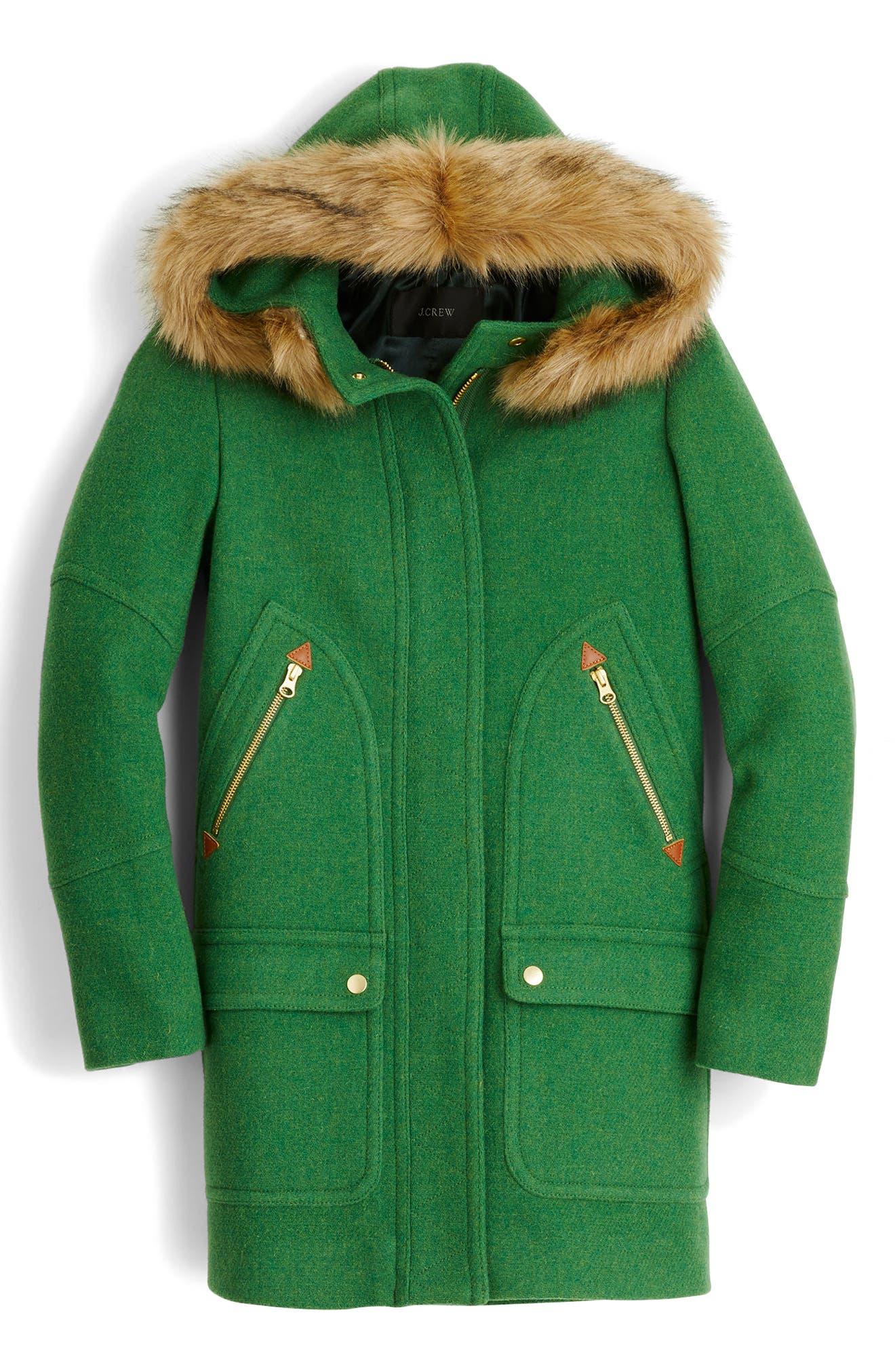 Chateau Stadium Cloth Parka with Faux Fur Trim,                             Main thumbnail 3, color,