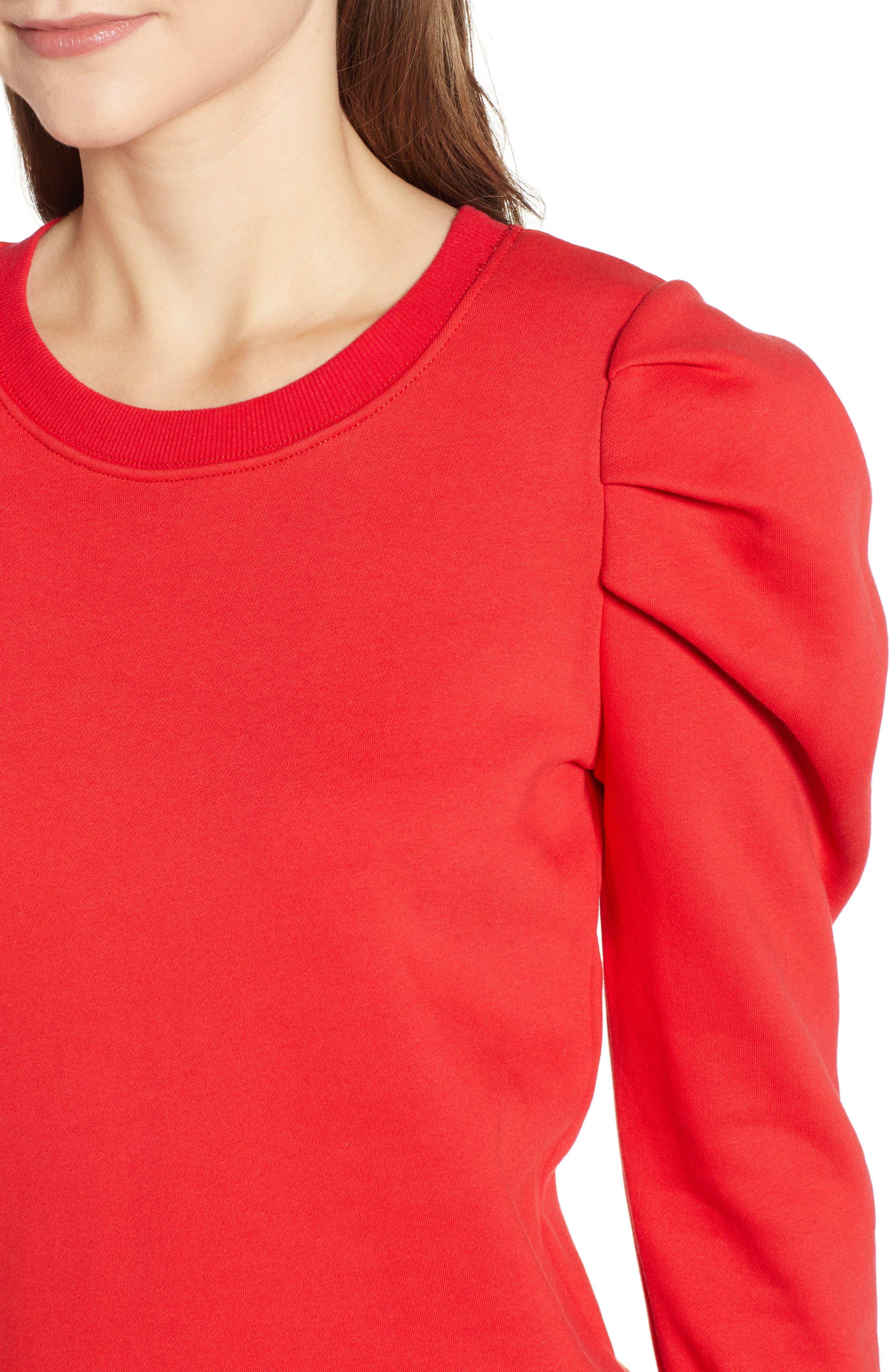 PAM & GELA,                             Puff Sleeve Sweatshirt,                             Alternate thumbnail 4, color,                             600