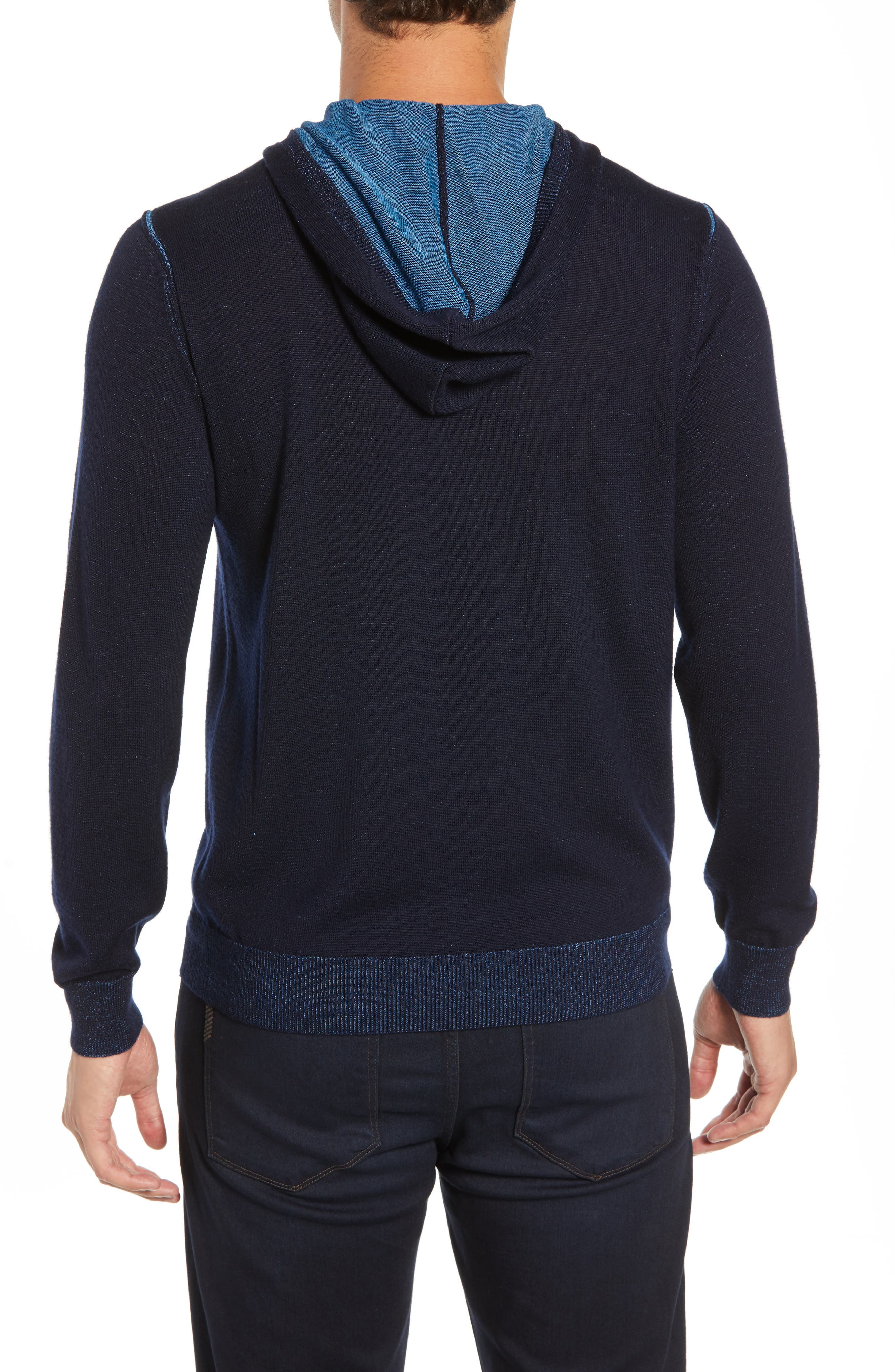 Hooded Pullover Sweater,                             Alternate thumbnail 2, color,                             NIGHT BLUE