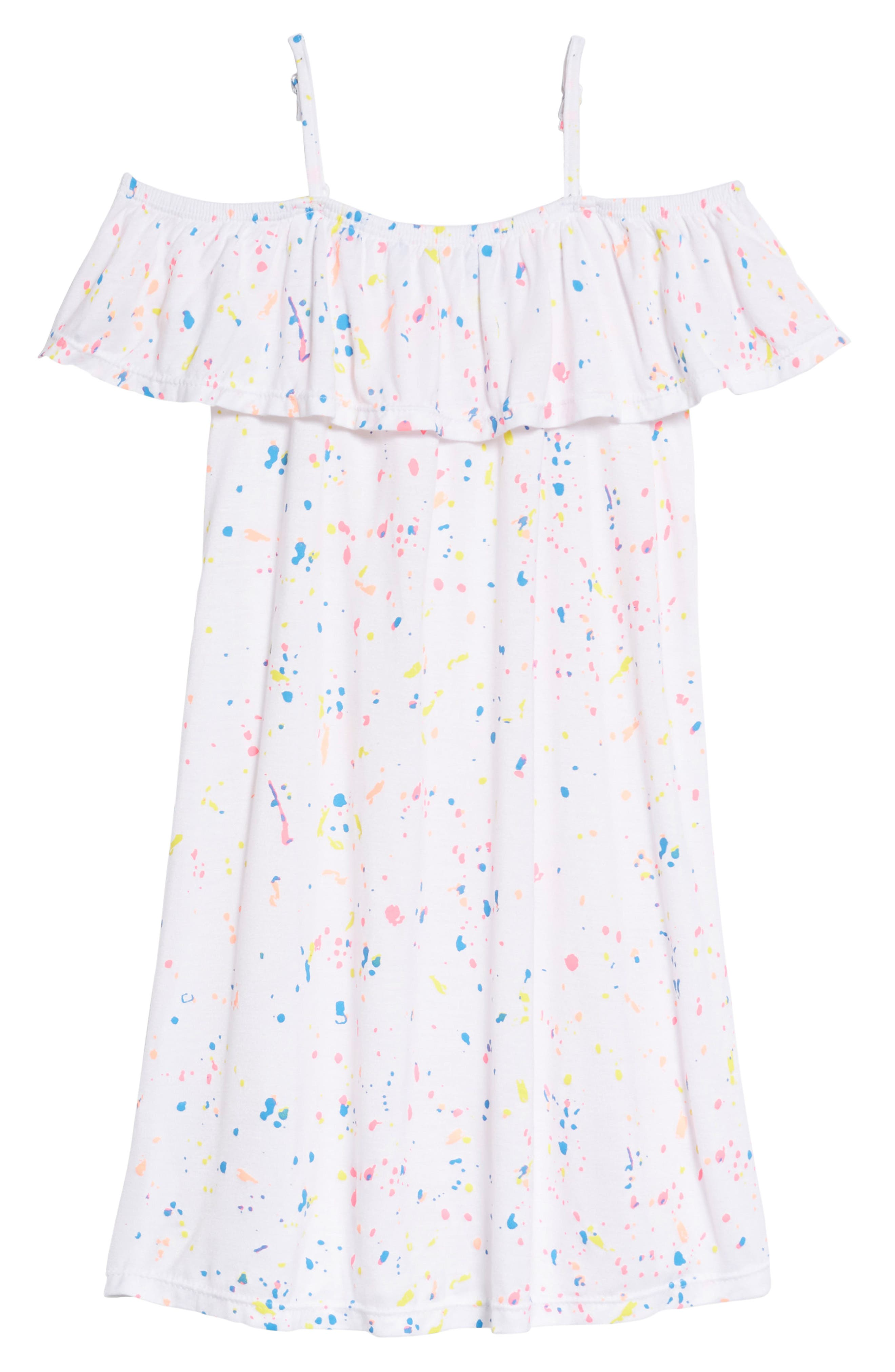 Splatter Dress,                         Main,                         color, 100