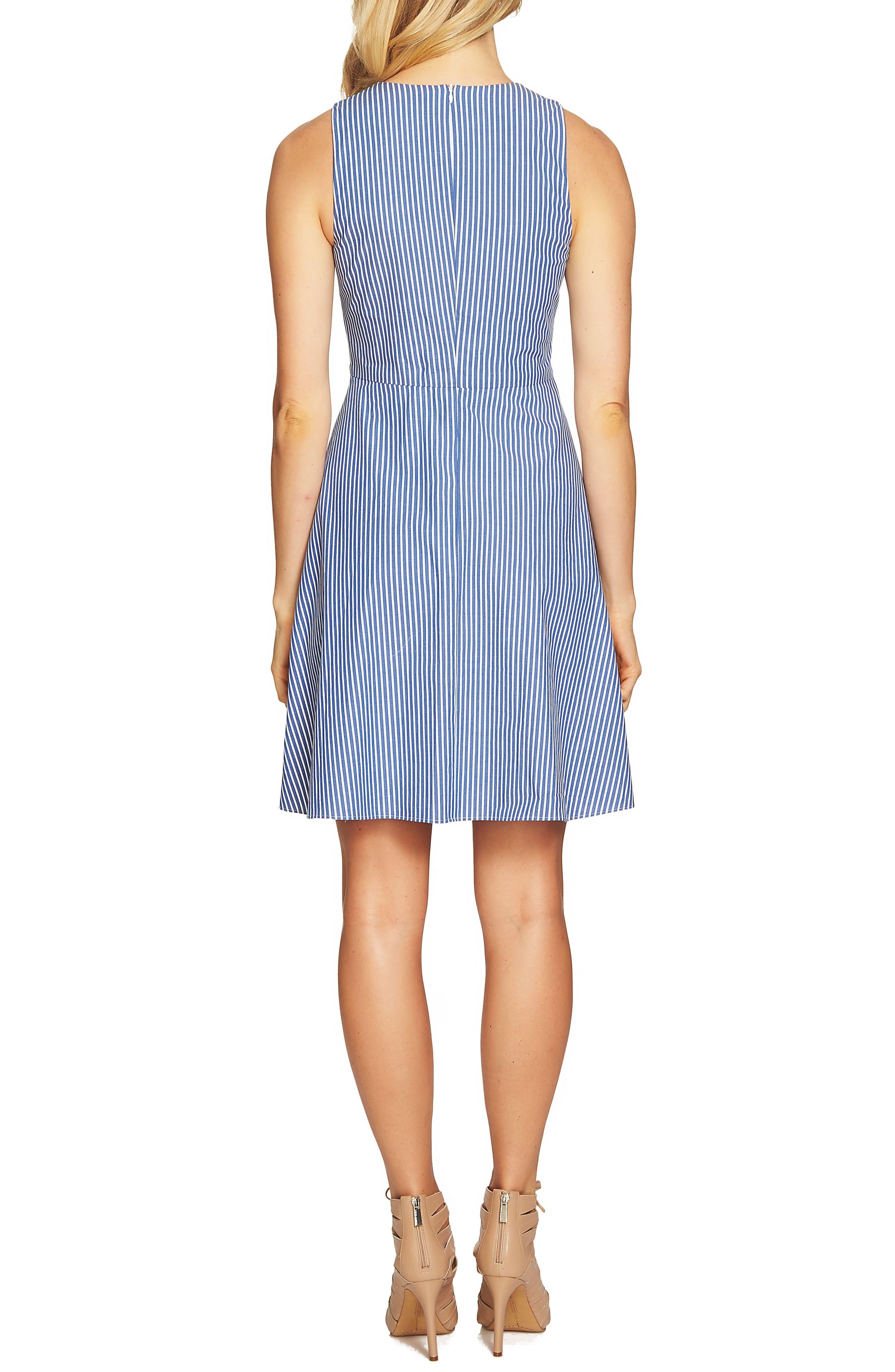Pintuck Stripe A-Line Dress,                             Alternate thumbnail 2, color,