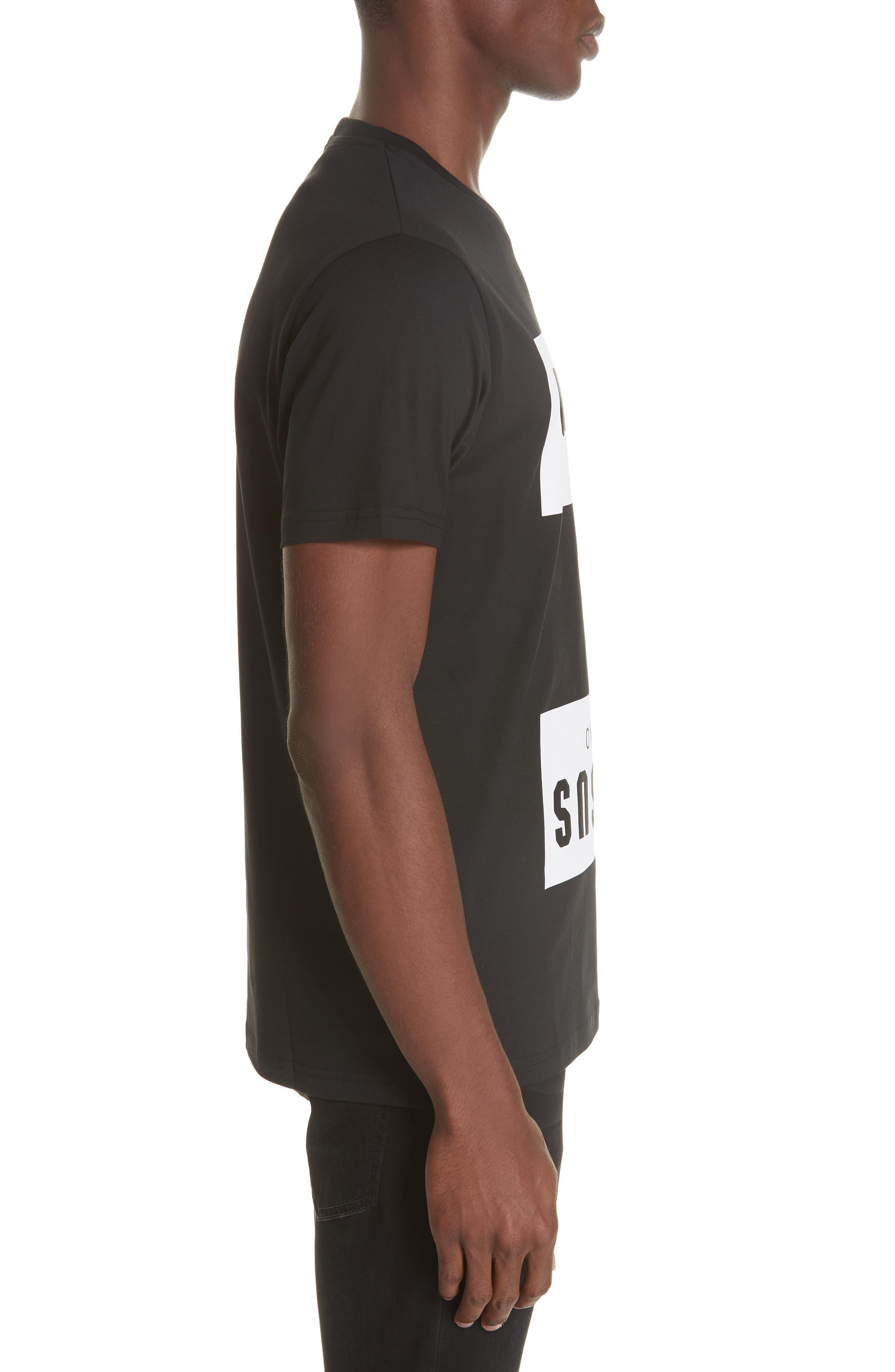 Box Logo T-Shirt,                             Alternate thumbnail 3, color,                             B1008 BLACK