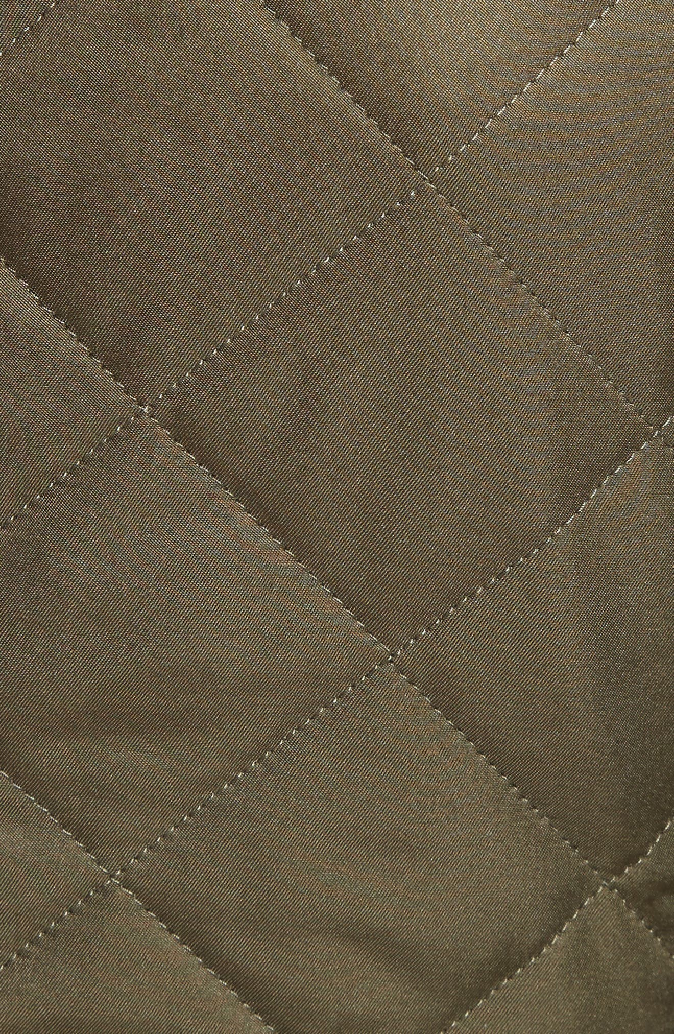 Boscastle Quilted Military Jacket,                             Alternate thumbnail 6, color,                             301