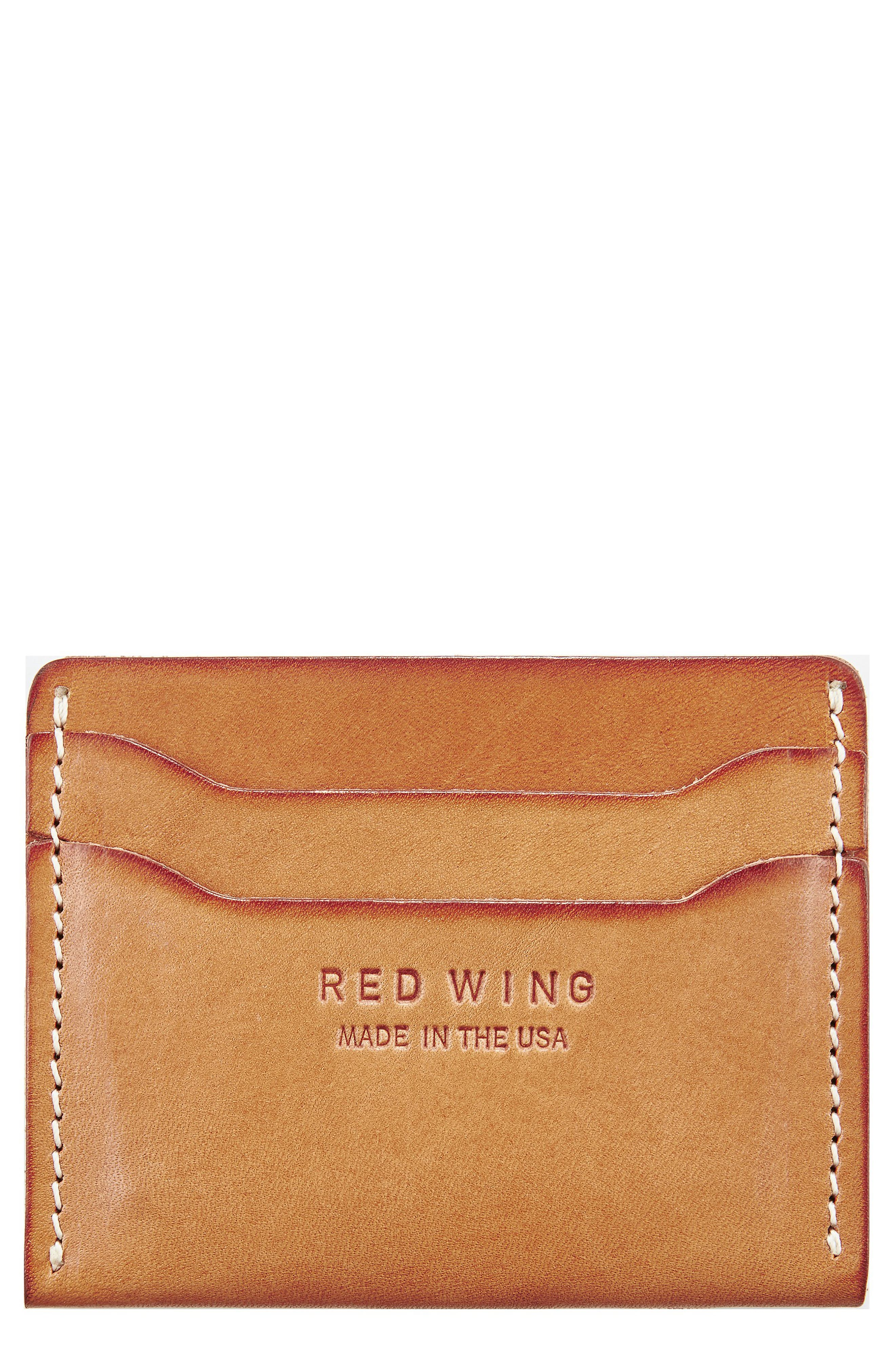 Leather Card Case,                             Main thumbnail 1, color,                             VEGETABLE- TANNED