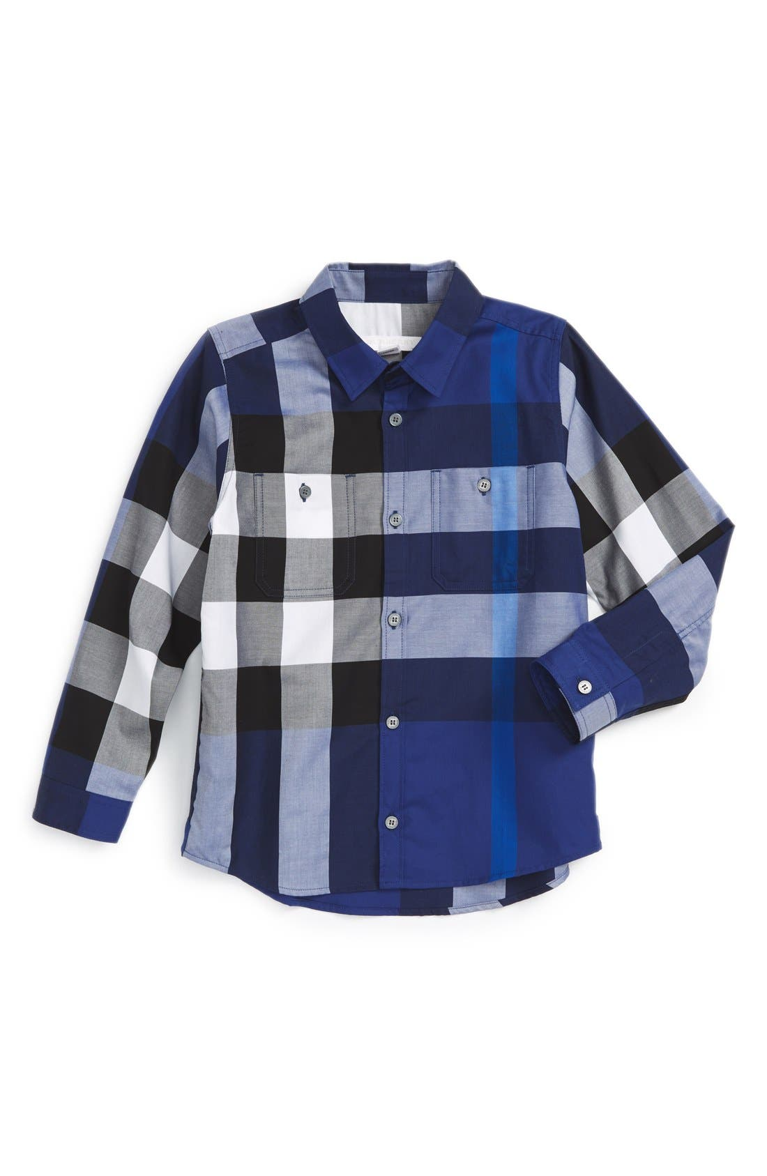'Mini Camber' Check Long Sleeve Shirt,                             Main thumbnail 3, color,