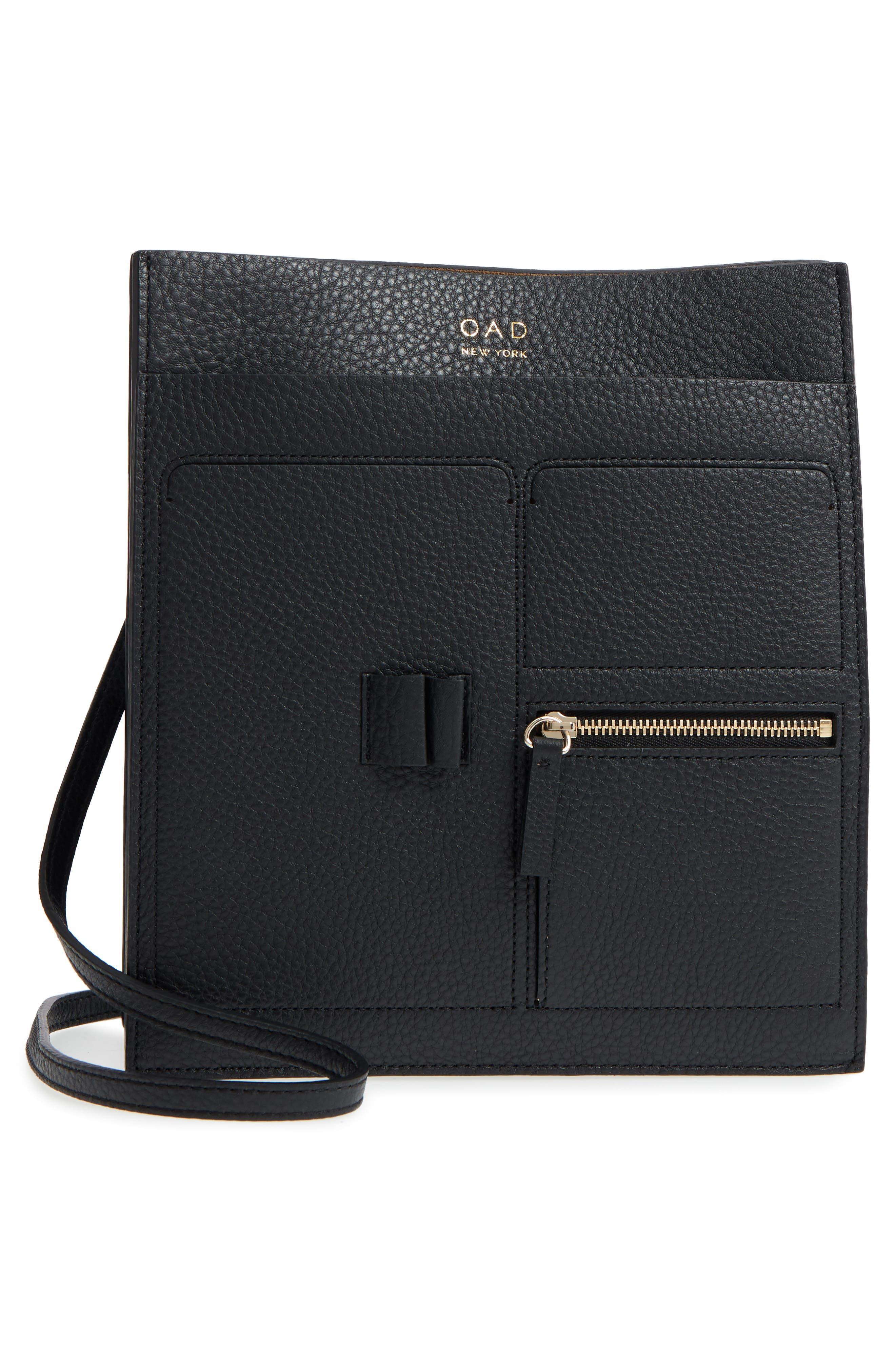Kit Leather Convertible Shoulder Bag,                             Alternate thumbnail 3, color,                             TRUE BLACK
