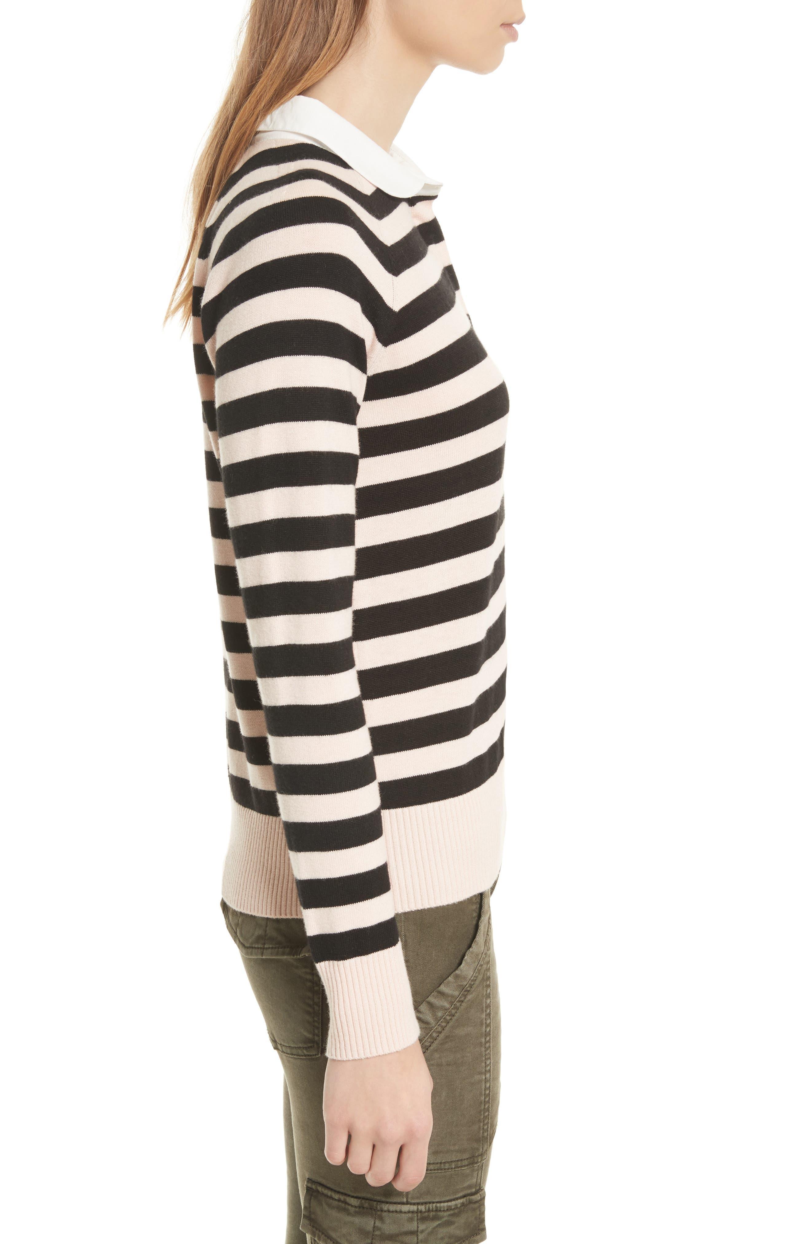 Gabbe Stripe Sweater,                             Alternate thumbnail 3, color,                             008