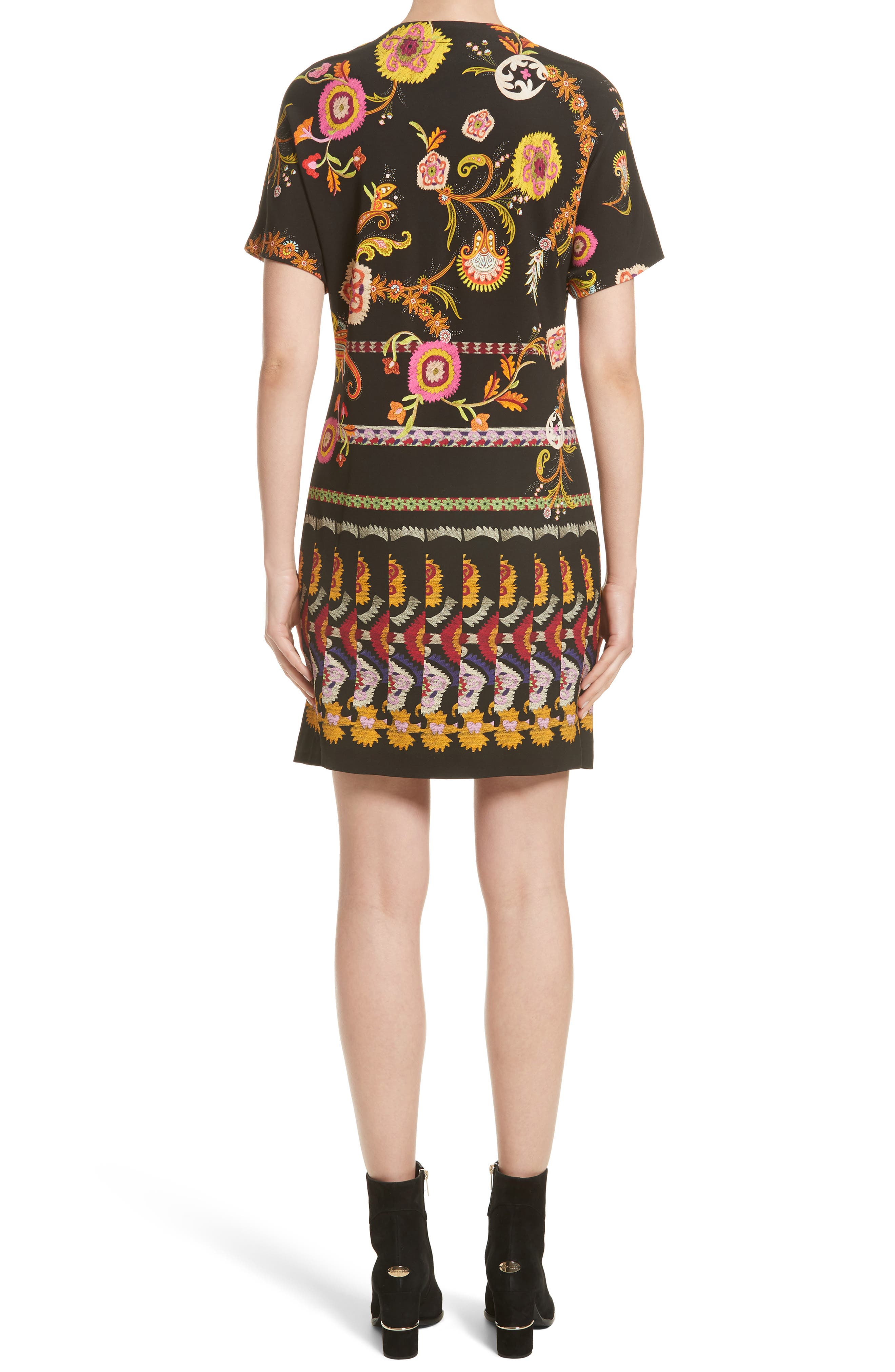 Floral & Paisley Jersey Dress,                             Alternate thumbnail 2, color,                             001