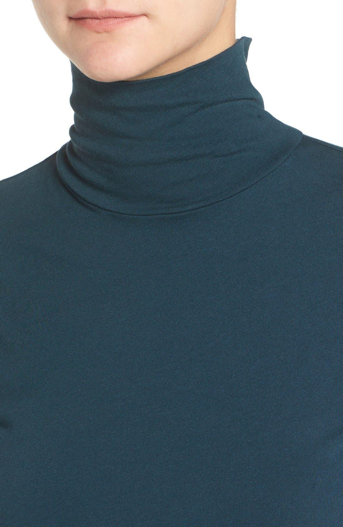 Turtleneck Midi Dress,                             Alternate thumbnail 8, color,