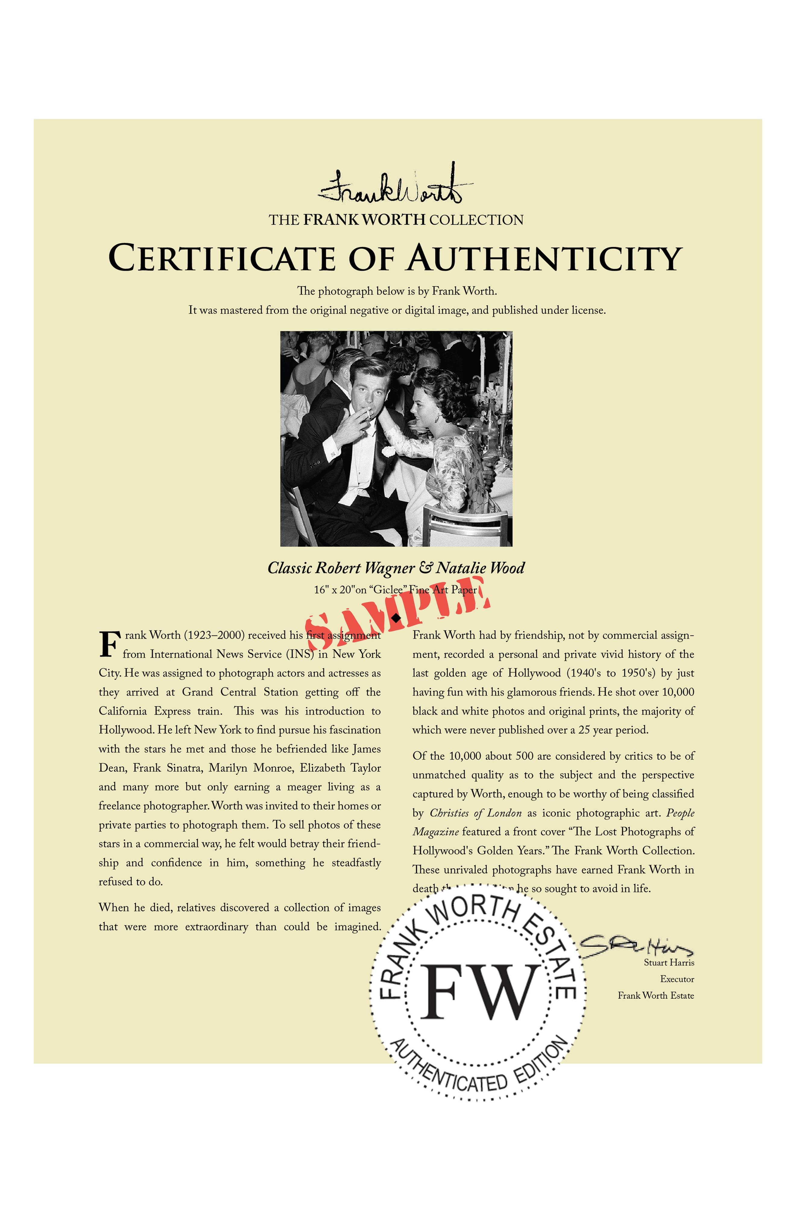 Robert Wagner & Natalie Wood Fine Art Print,                             Alternate thumbnail 4, color,                             001