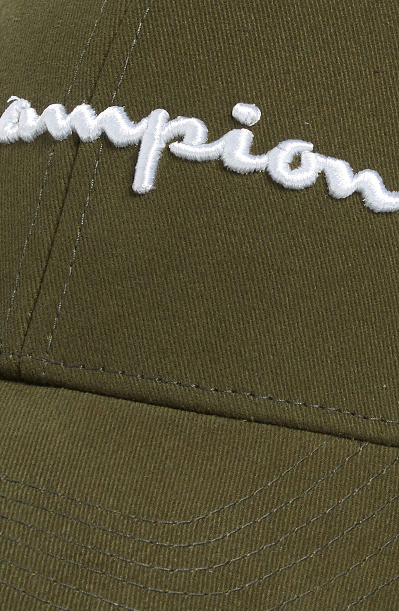 Classic Script Baseball Cap,                             Alternate thumbnail 3, color,                             HIKER GREEN