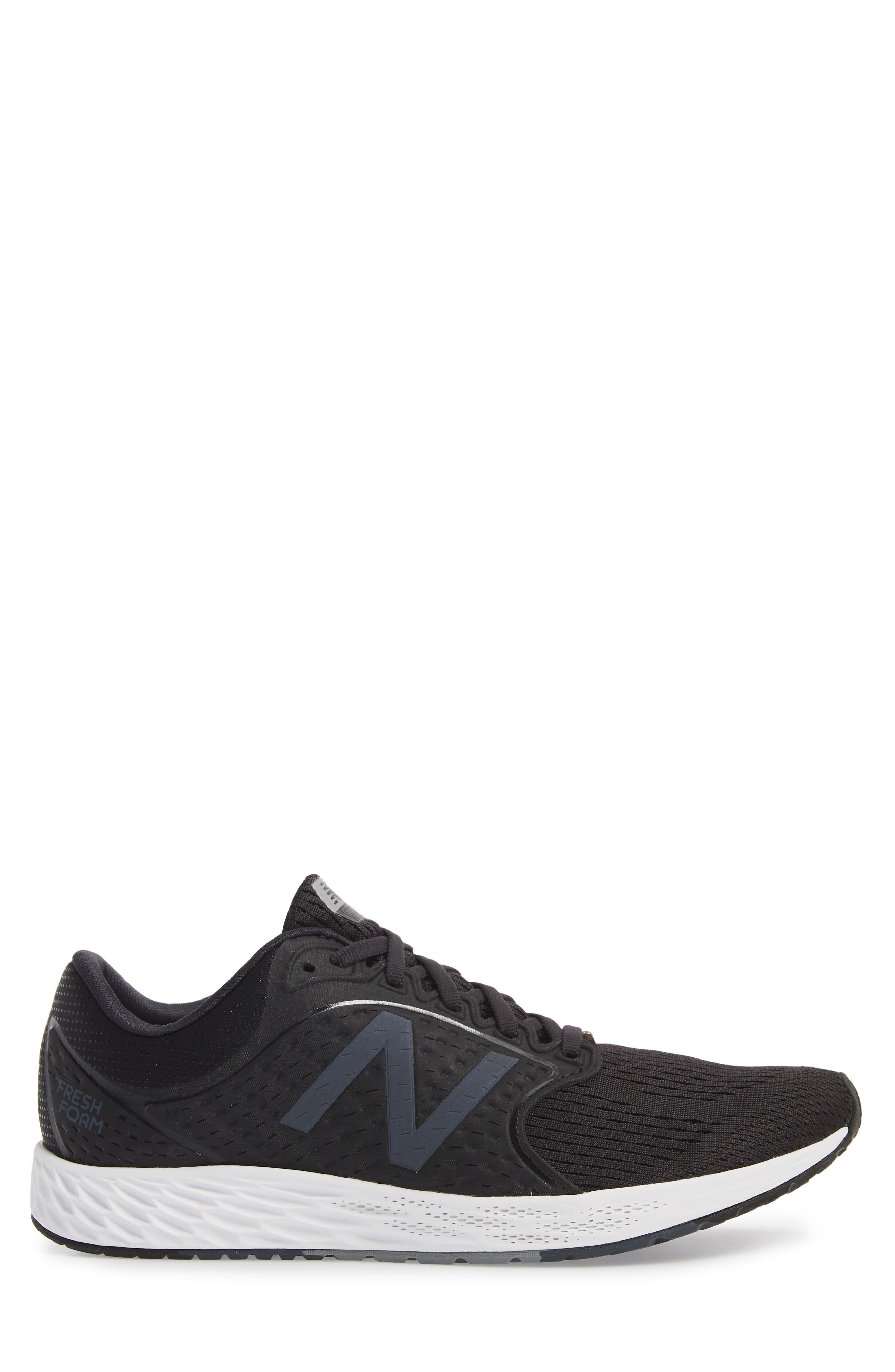 Fresh Foam Zante v4 Sneaker,                             Alternate thumbnail 3, color,                             BLACK