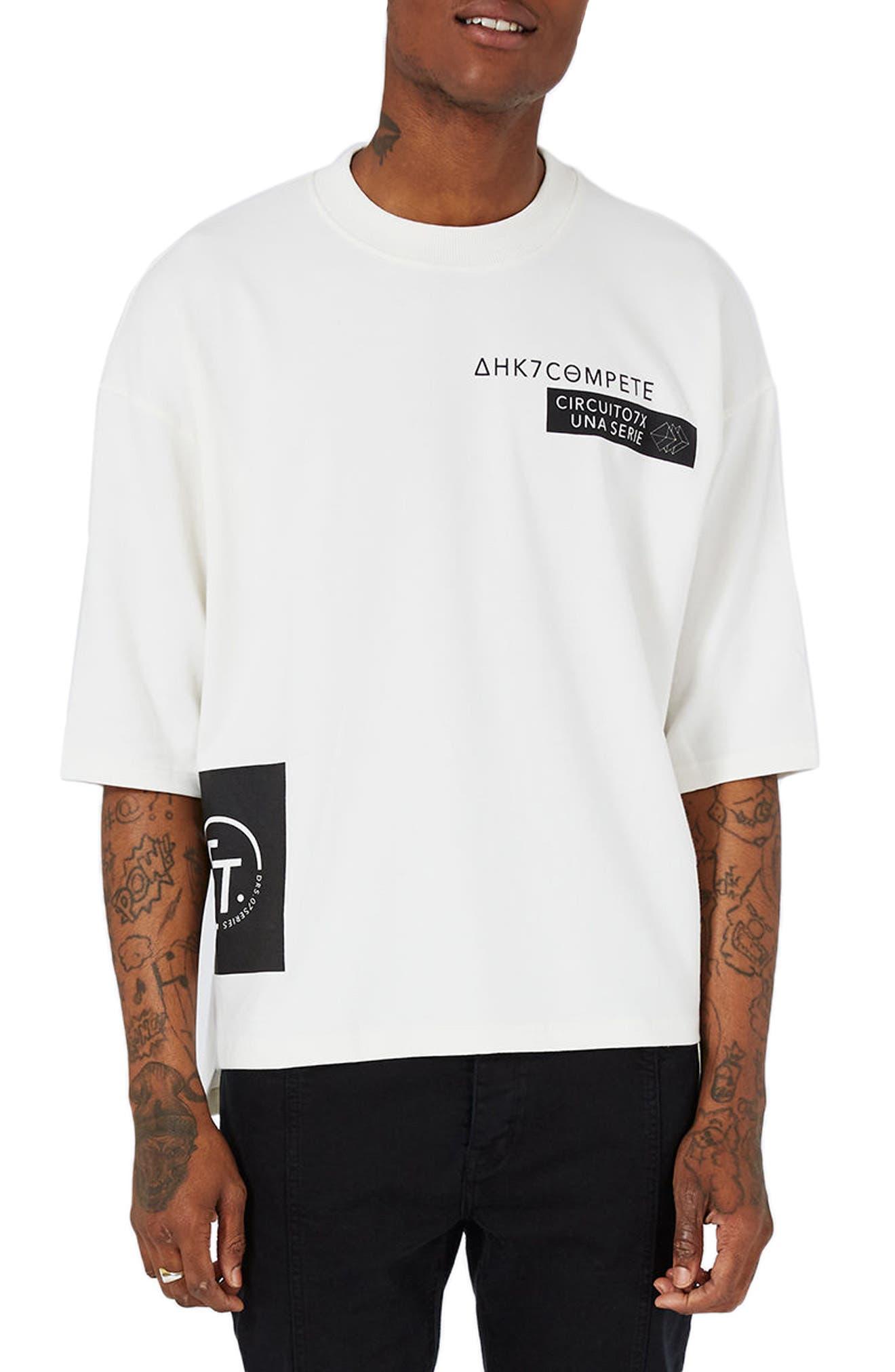Circuit Print Sweatshirt,                         Main,                         color, 100