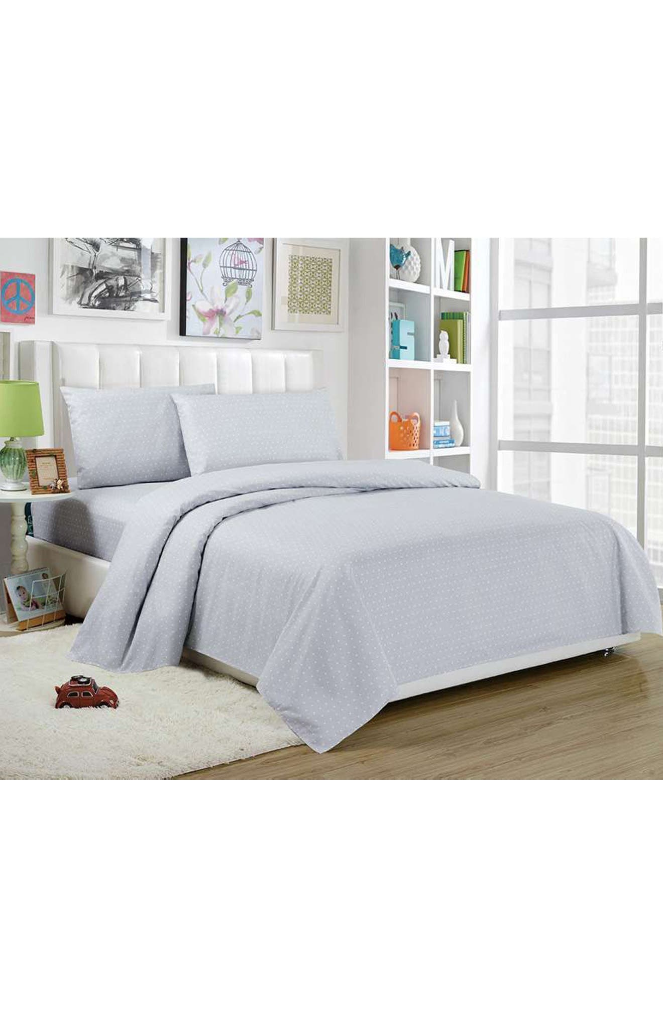 Trina 3-Piece Twin Sheet Set,                             Main thumbnail 1, color,                             GREY