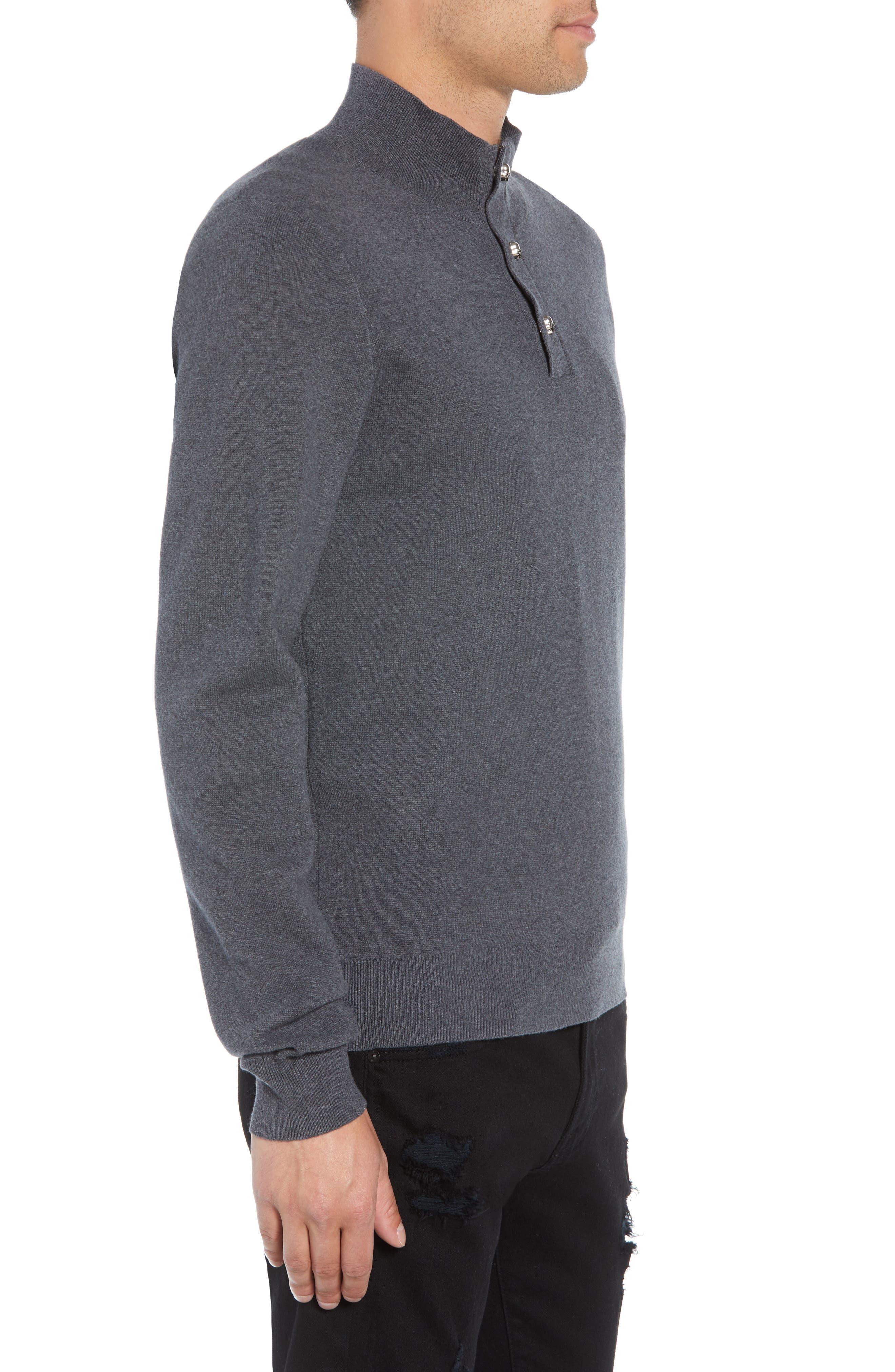 Classic Fit Skullhead Sweater,                             Alternate thumbnail 3, color,                             GREY